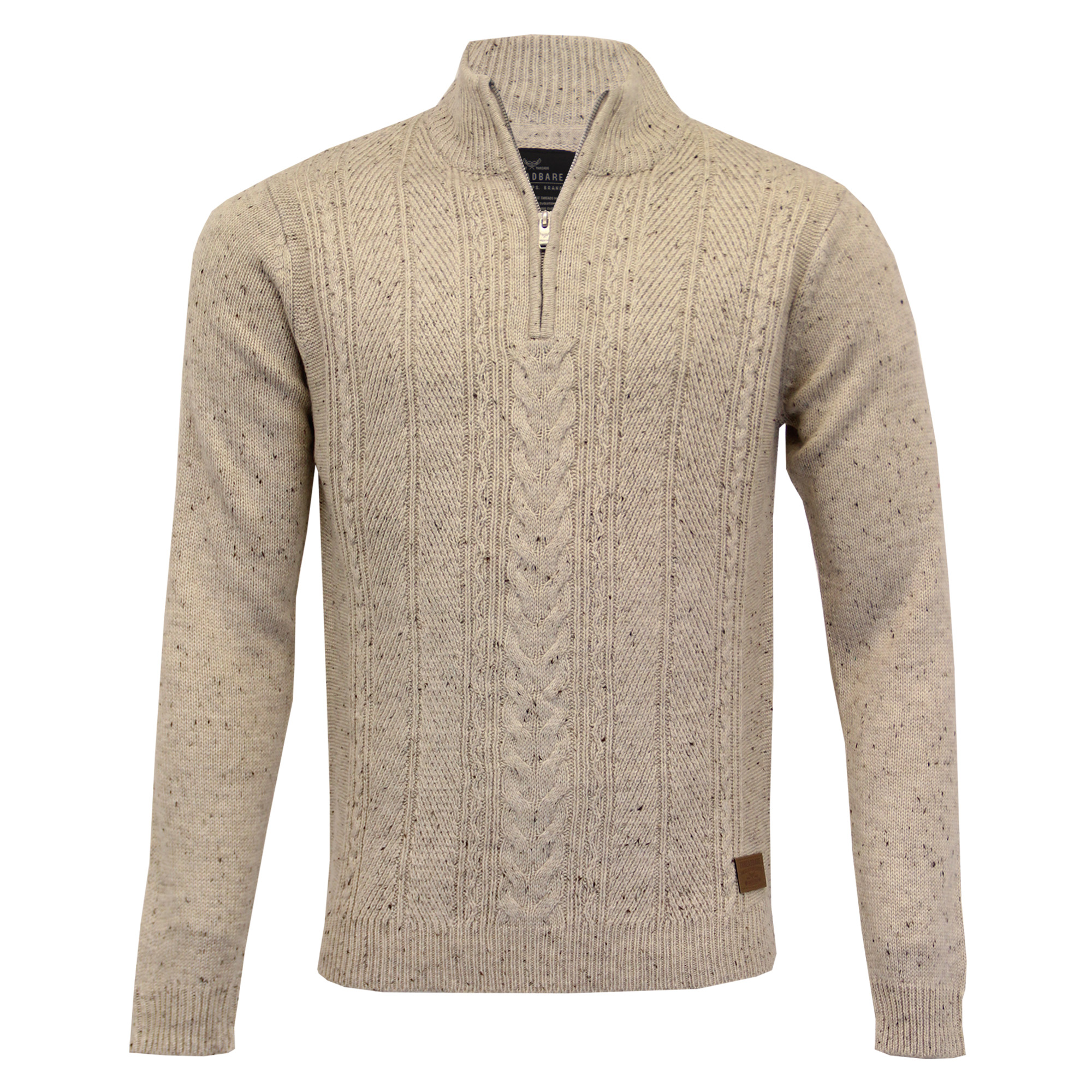 Mens-Wool-Mix-Jumper-Threadbare-Knitted-Sweater-Pullover-Top-Chunky-Zip-Winter thumbnail 40