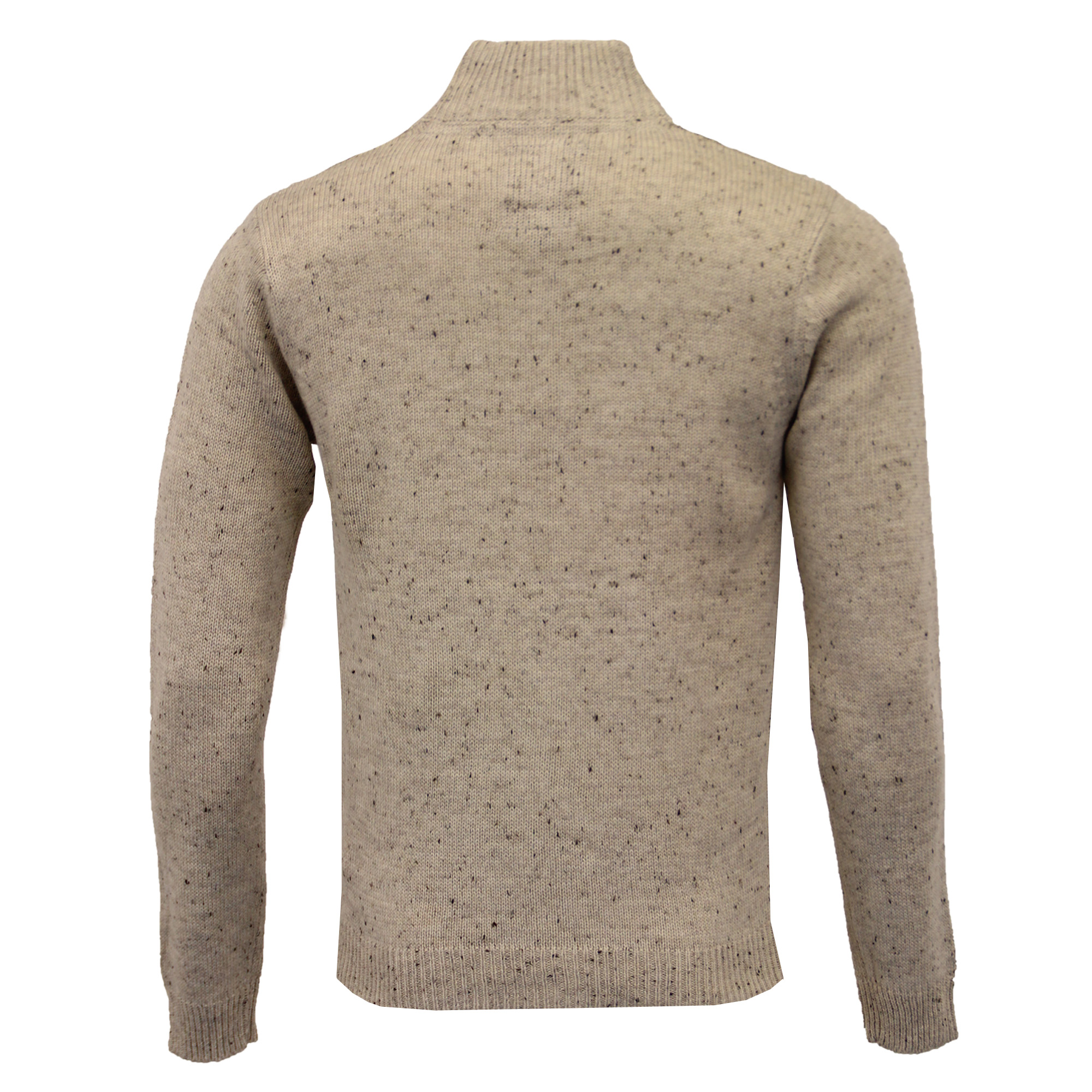 Mens-Wool-Mix-Jumper-Threadbare-Knitted-Sweater-Pullover-Top-Chunky-Zip-Winter thumbnail 41