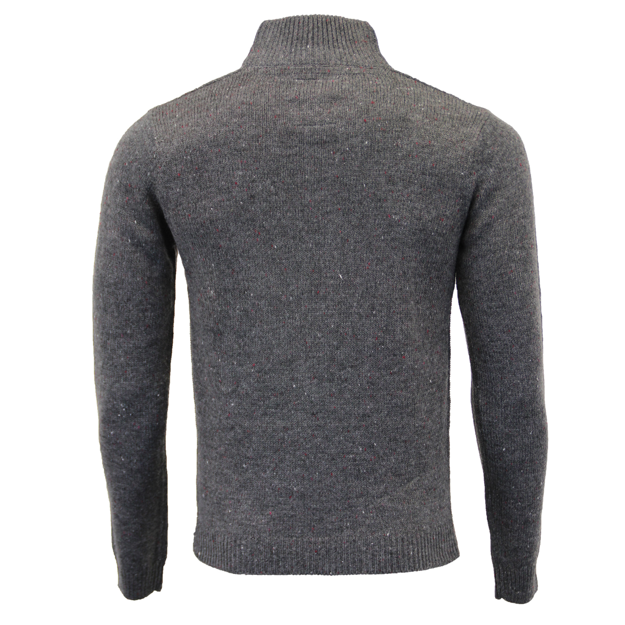 Mens-Wool-Mix-Jumper-Threadbare-Knitted-Sweater-Pullover-Top-Chunky-Zip-Winter thumbnail 12