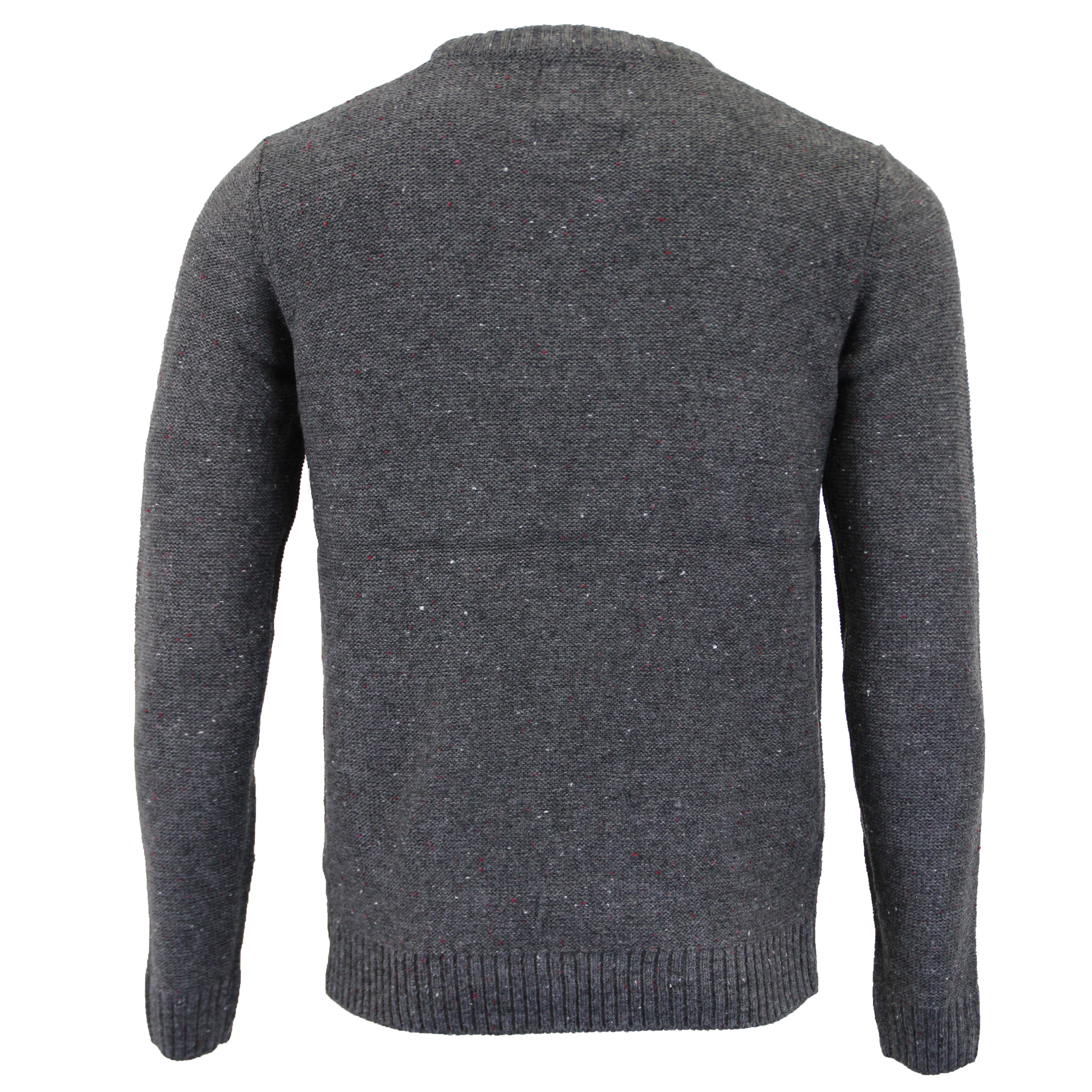 Mens-Wool-Mix-Jumper-Threadbare-Knitted-Sweater-Pullover-Top-Chunky-Zip-Winter thumbnail 6