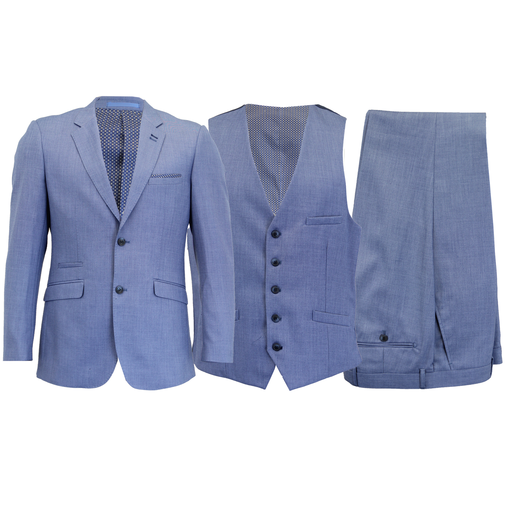 cd130b7a5b26 Details about Mens MARENO 3 Piece Suits Blazers Trouser Waistcoats Designer  Jacket Smart Prom