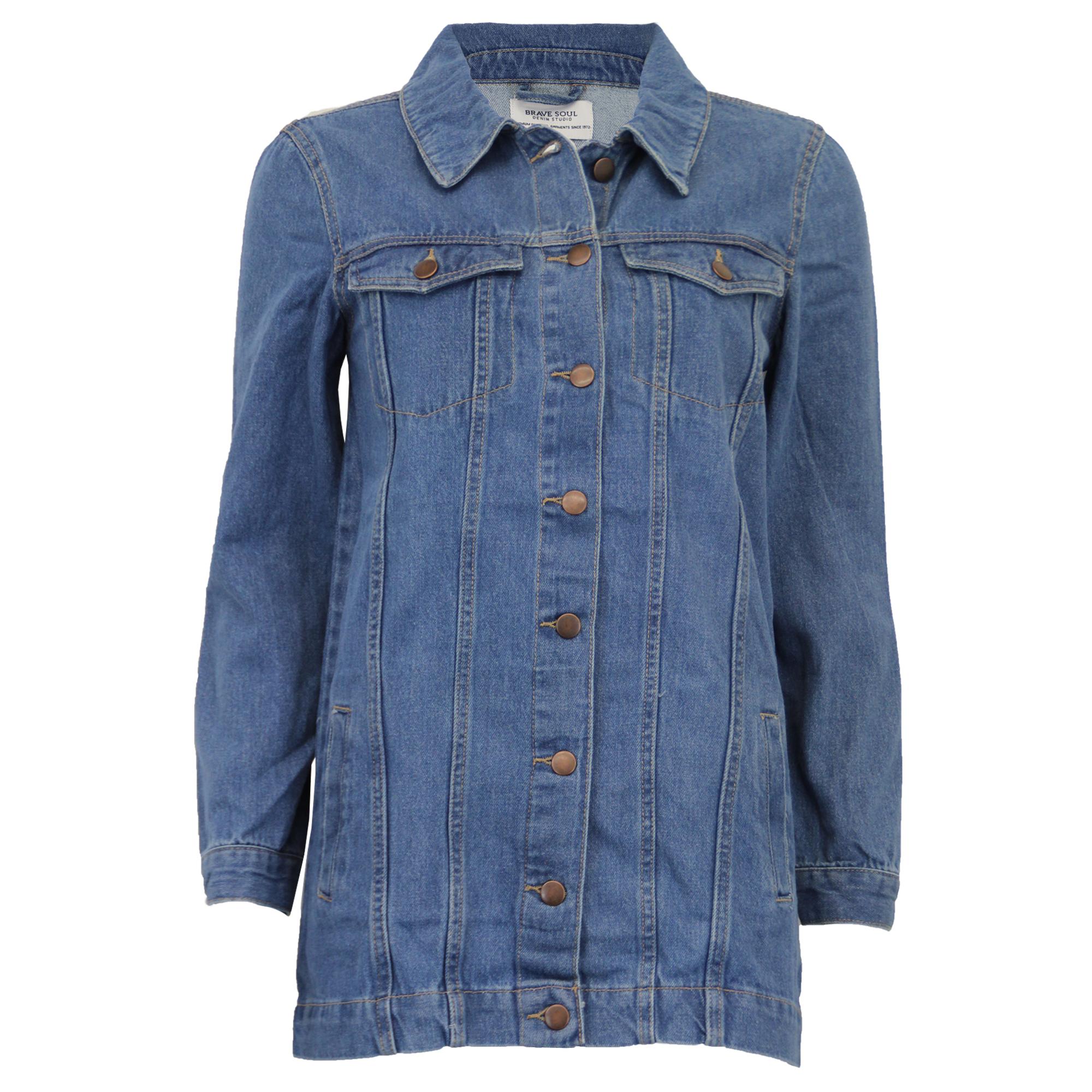 Lungo da Donna Western Giacca di Jeans Brave Soul   Acer  Cotone con ... aaa622571b9