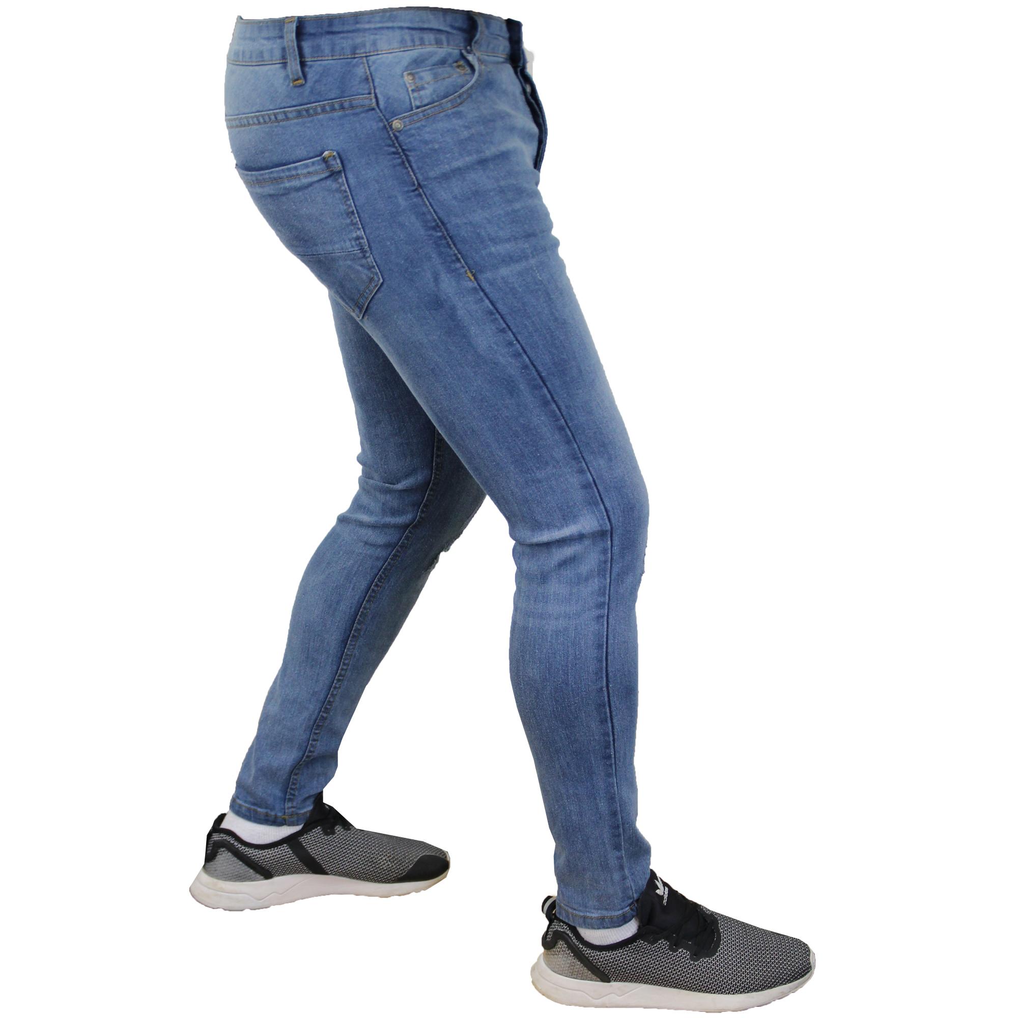 Mens Ripped Denim Jeans Brave Soul Ortiz Slim Fit Lark Stretch Skinny Ibaka New