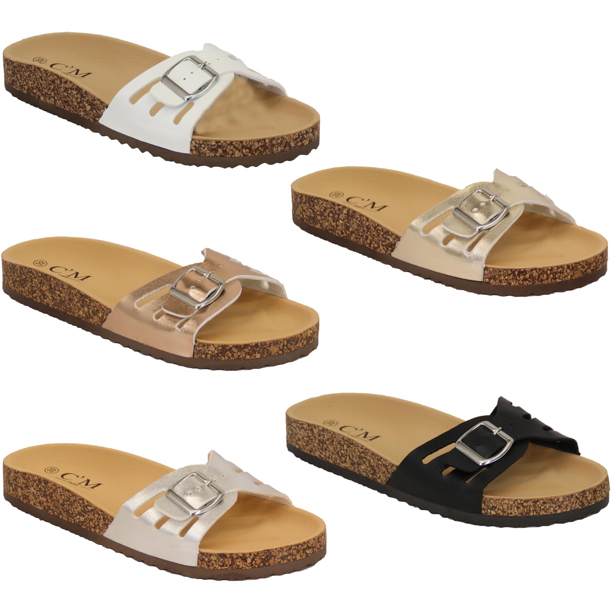 Ladies Slippers Slip On Flat Mule