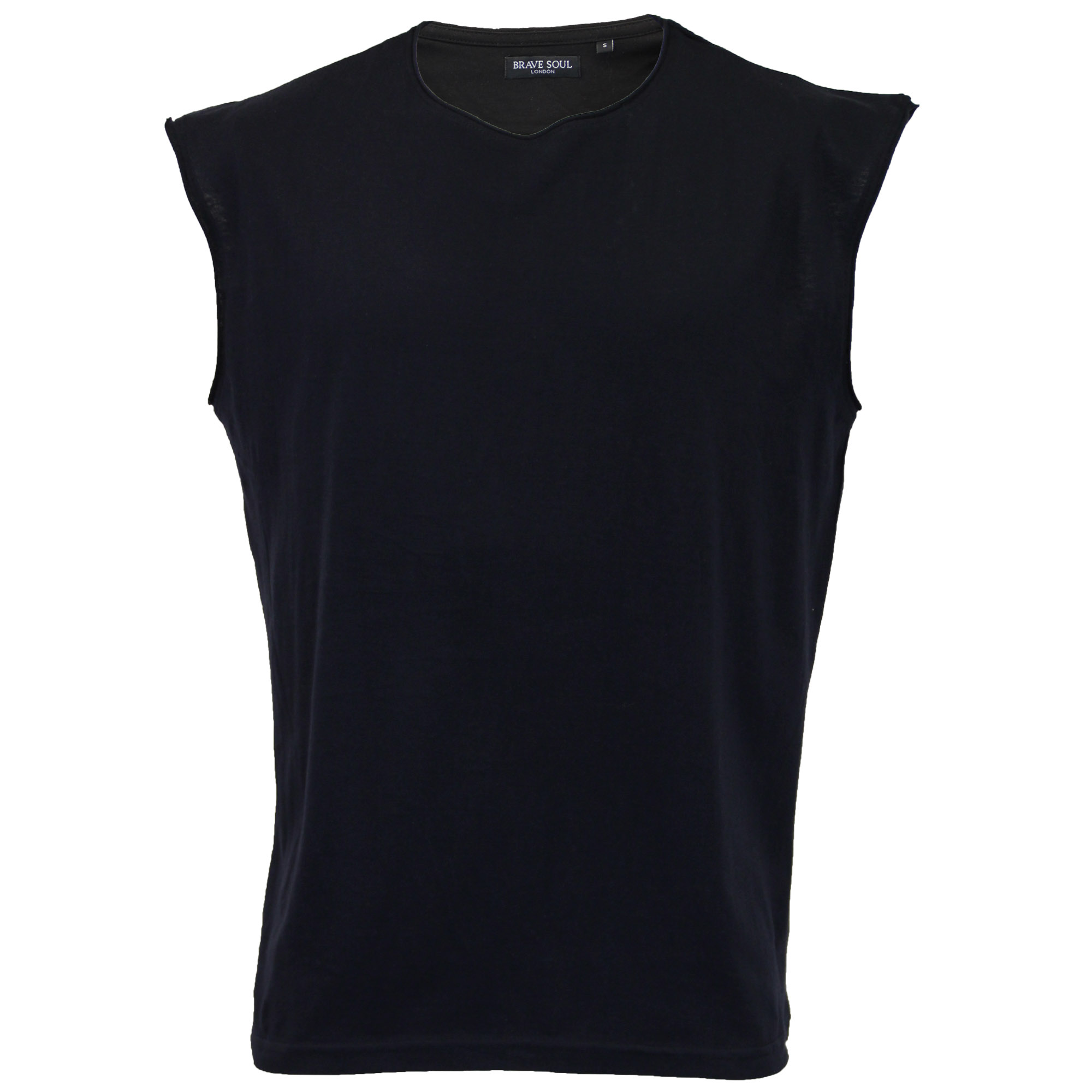 Mens-Vest-Brave-Soul-Tank-Top-Varley-Gym-Training-Crew-Neck-Casual-Summer-New thumbnail 2