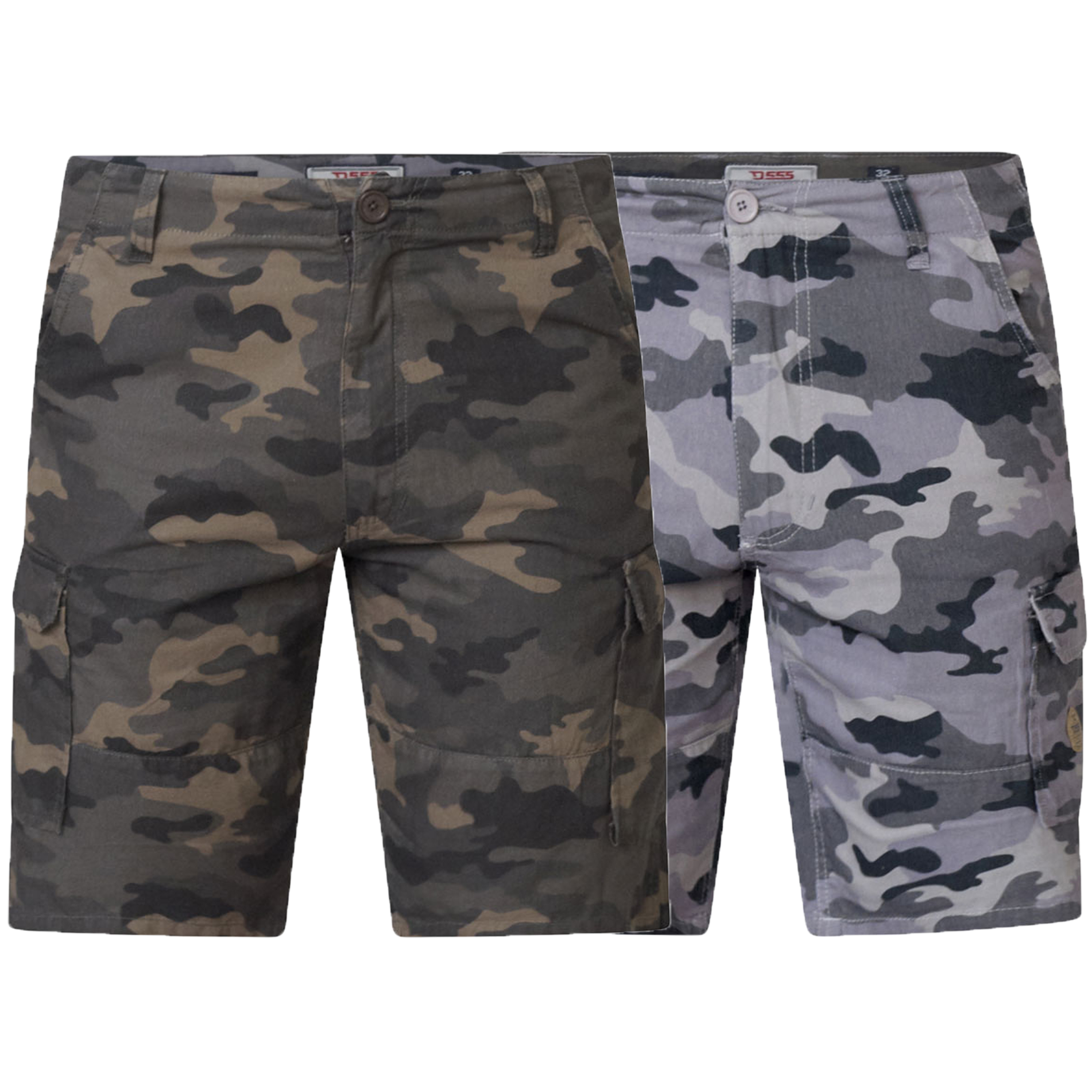 3fd8a56700a Mens Camo Cargo Shorts D555 Duke King Size Marty Military Army Knee ...