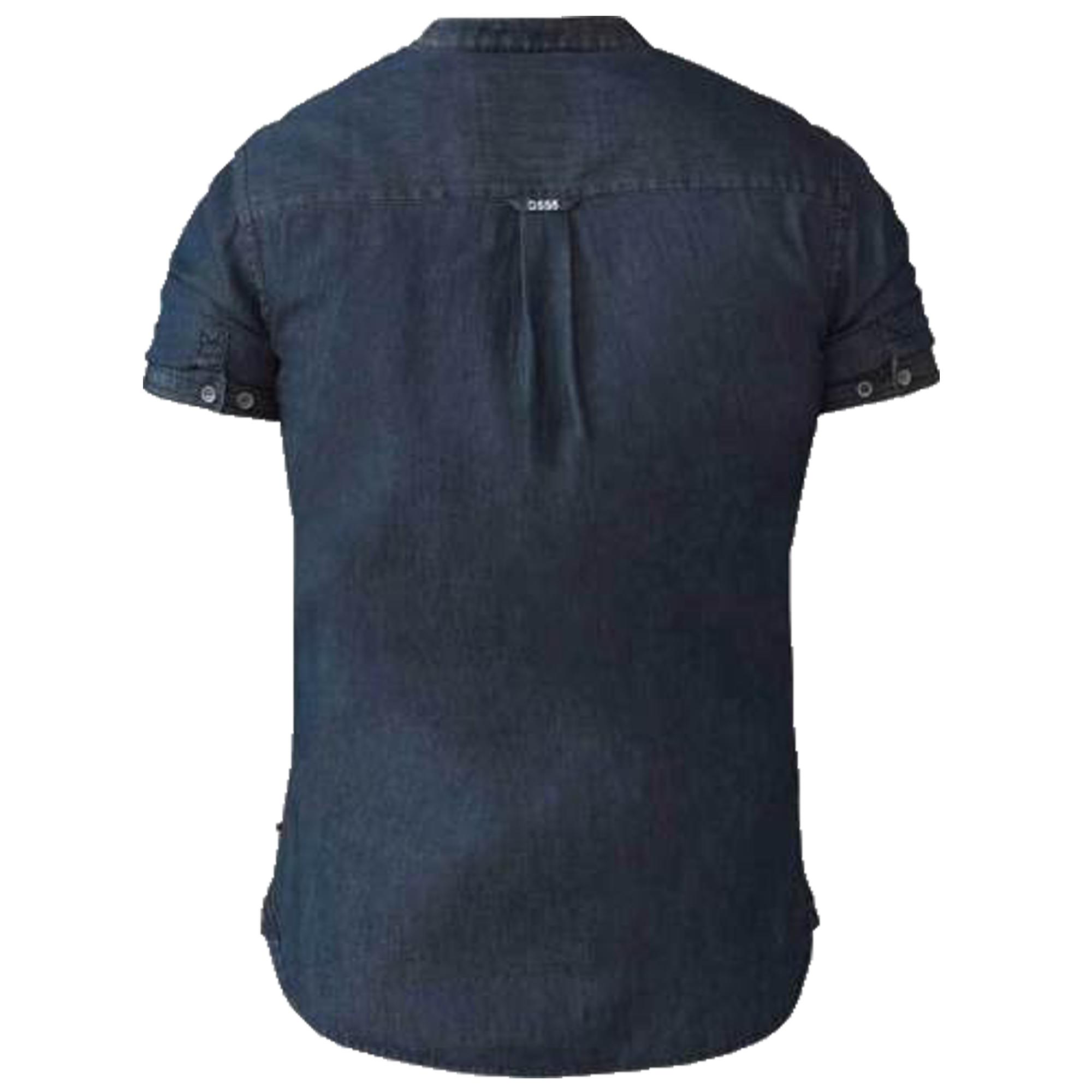 Mens-Denim-Shirt-D555-Duke-Big-King-Size-Cotton-Astra-Nathan-Short-Sleeved-New thumbnail 3