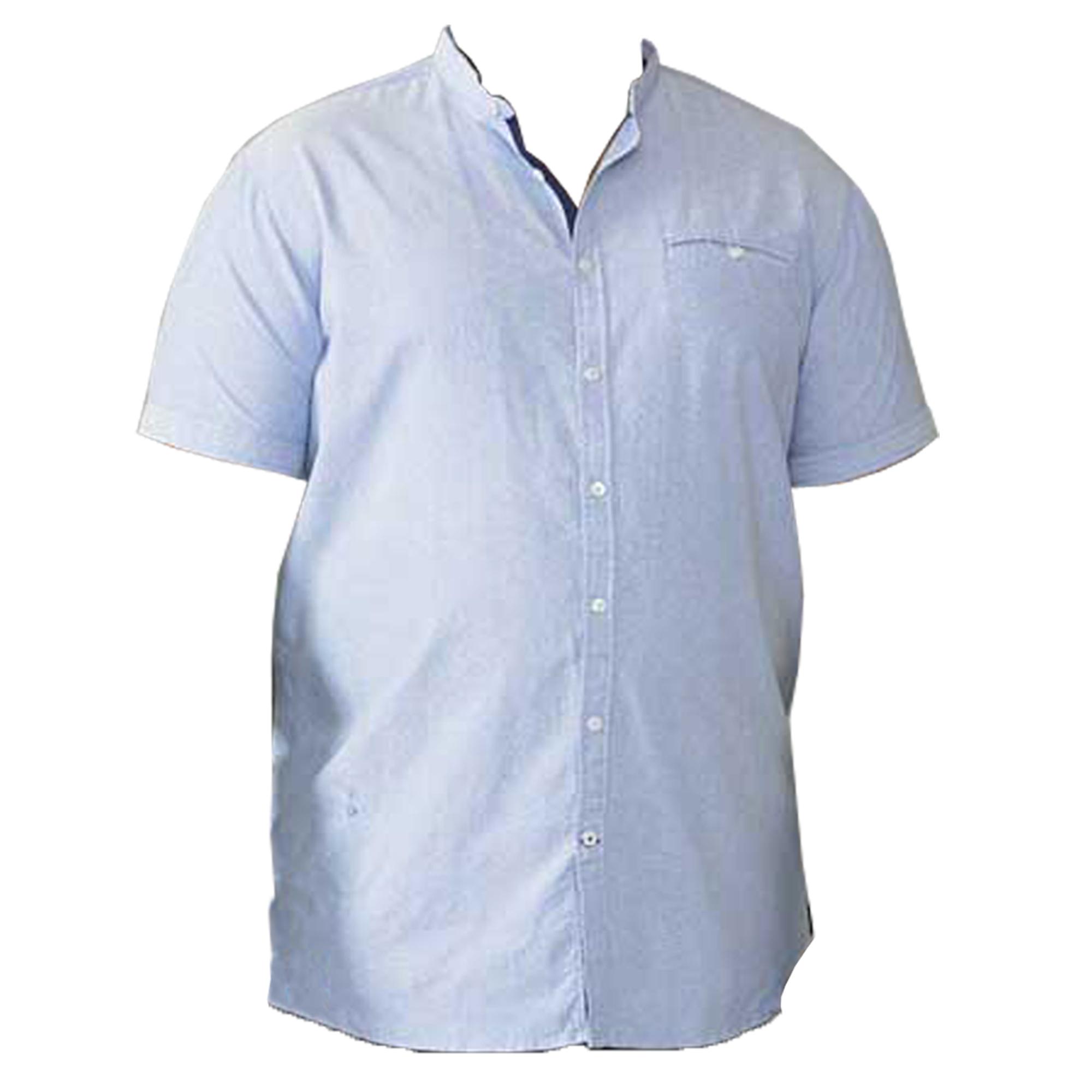 Camisa-Para-Hombres-D555-Duke-Algodon-Oxford-Big-King-Size-Dwight-Norman-de-Manga-Corta-Nuevo miniatura 8