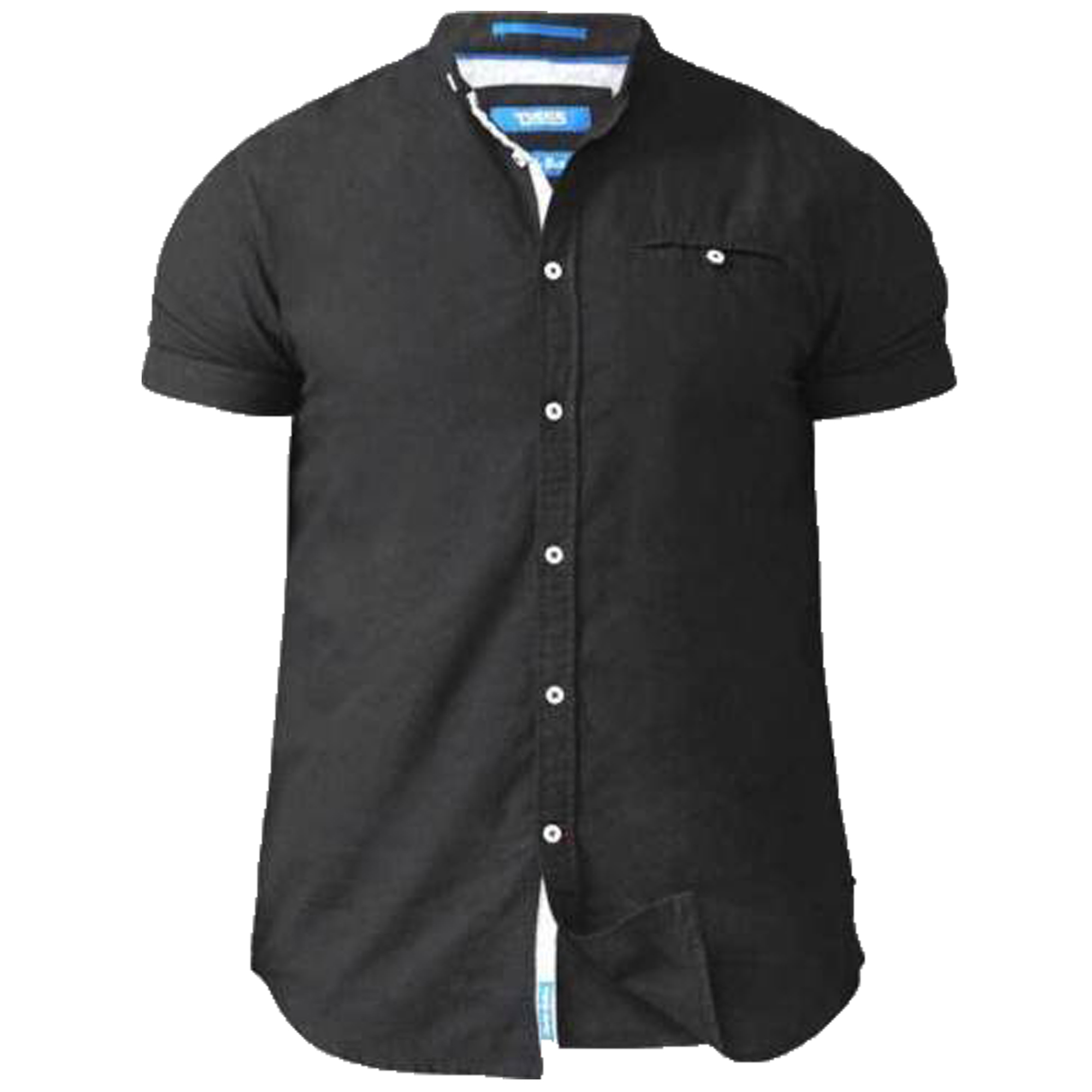Camisa-Para-Hombres-D555-Duke-Algodon-Oxford-Big-King-Size-Dwight-Norman-de-Manga-Corta-Nuevo miniatura 2