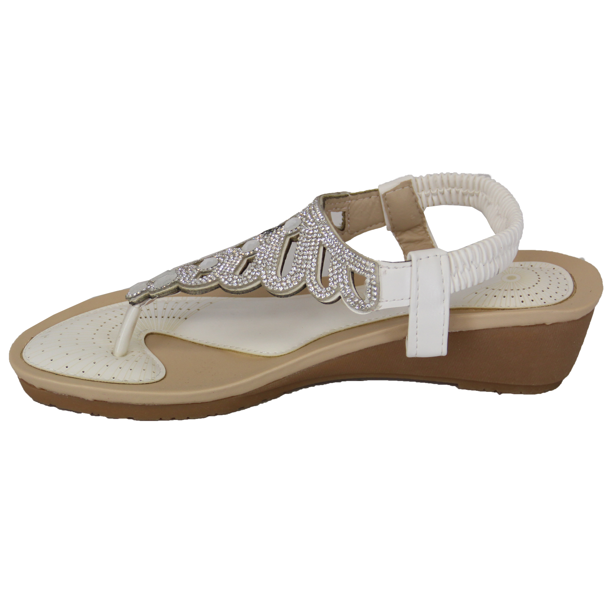 Ladies-Sandals-Kelsi-Womens-Diamante-Slip-On-Toe-Post-Shoes-Casual-Fashion-New thumbnail 32