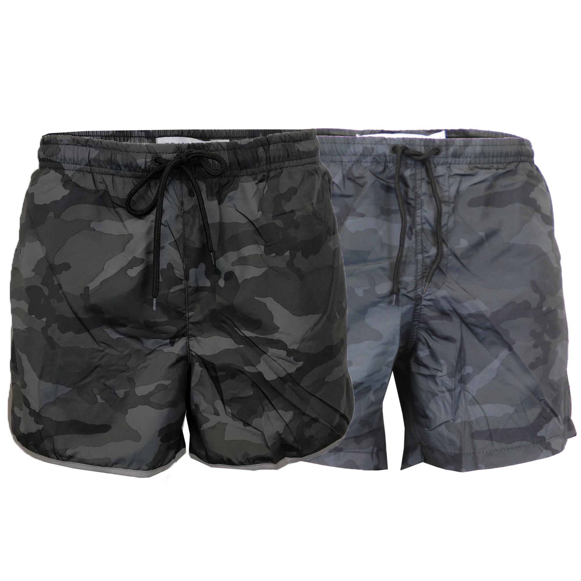 9098eb9321f9 Details about Mens Camo Swim Shorts Brave Soul Melbourne Military Conrad  Reflective Summer New