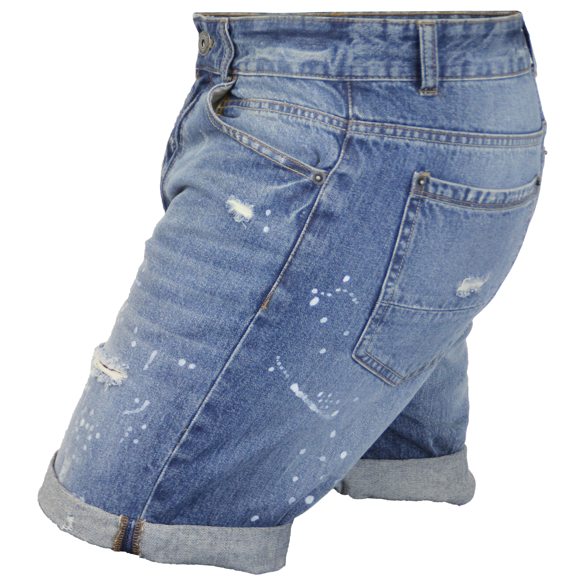 d29582de3d Mens Ripped Denim Shorts Brave Soul Gregor Pants Jack Knee Length ...