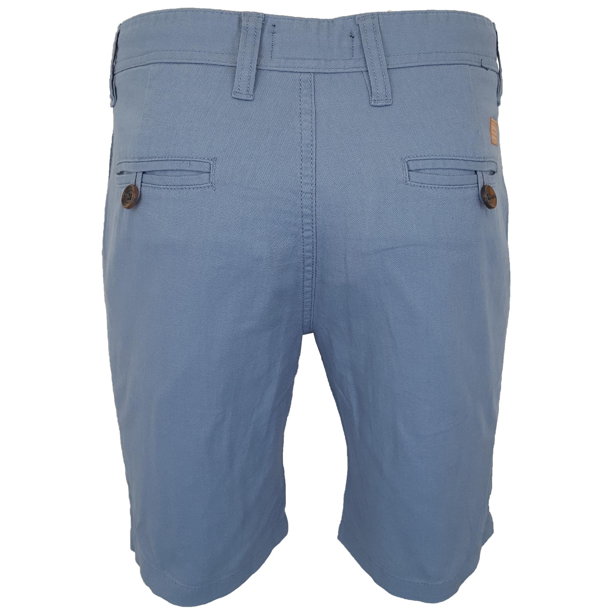 Mens-Linen-Chino-Shorts-Threadbare-Knee-Length-Half-Pants-Casual-Summer-Fashion thumbnail 6