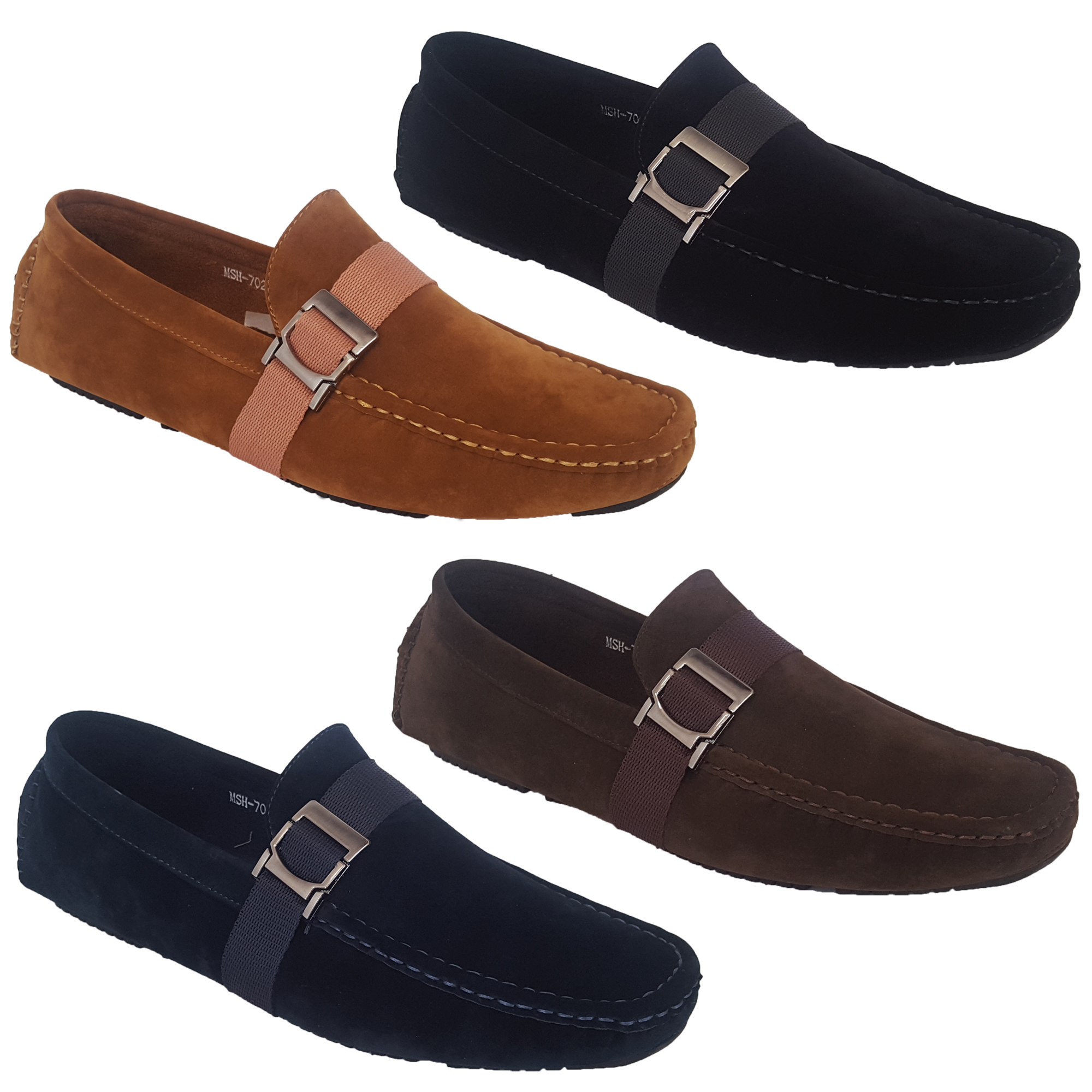 b3b78678c4f9 Mens Moccasins Suede Look Shoes Driving Loafers Slip On Boat Wedding ...