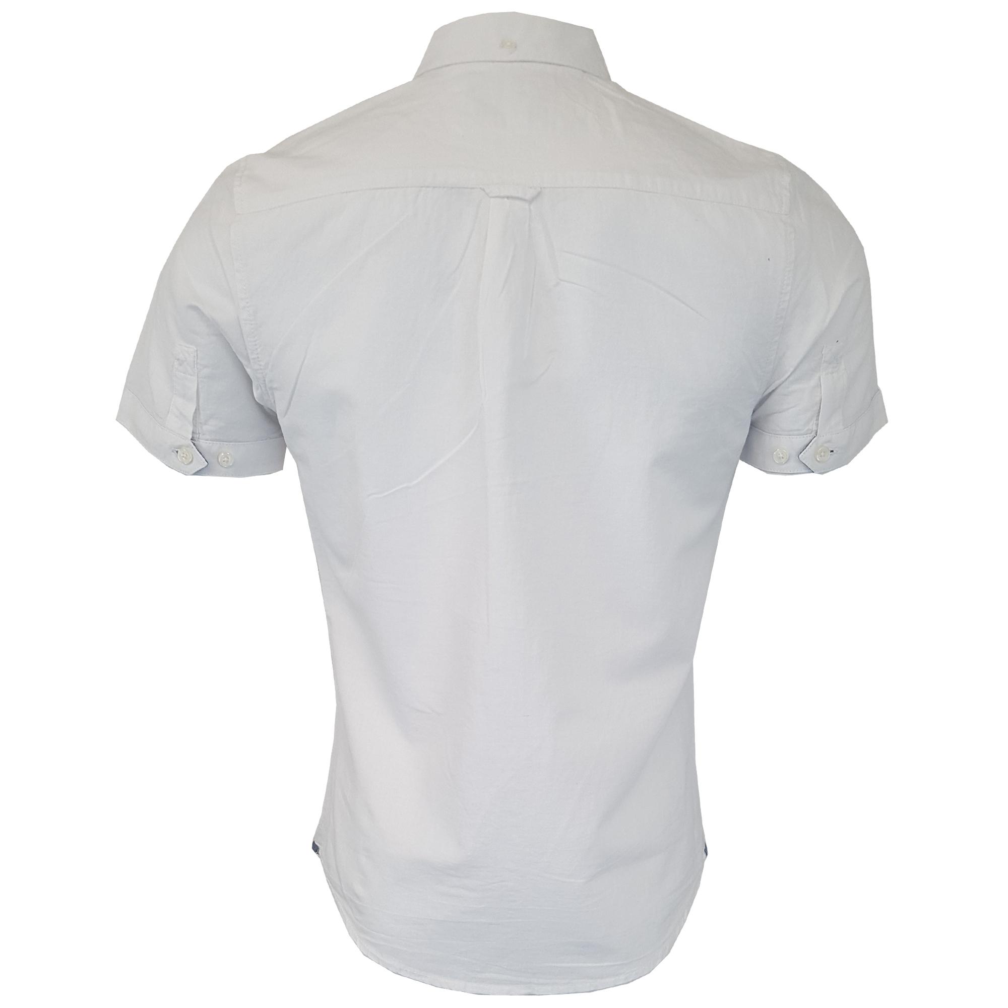 Mens-Linen-Cotton-Shirt-Tokyo-Laundry-Wells-Short-Sleeved-Grosvenor-Summer-New thumbnail 15