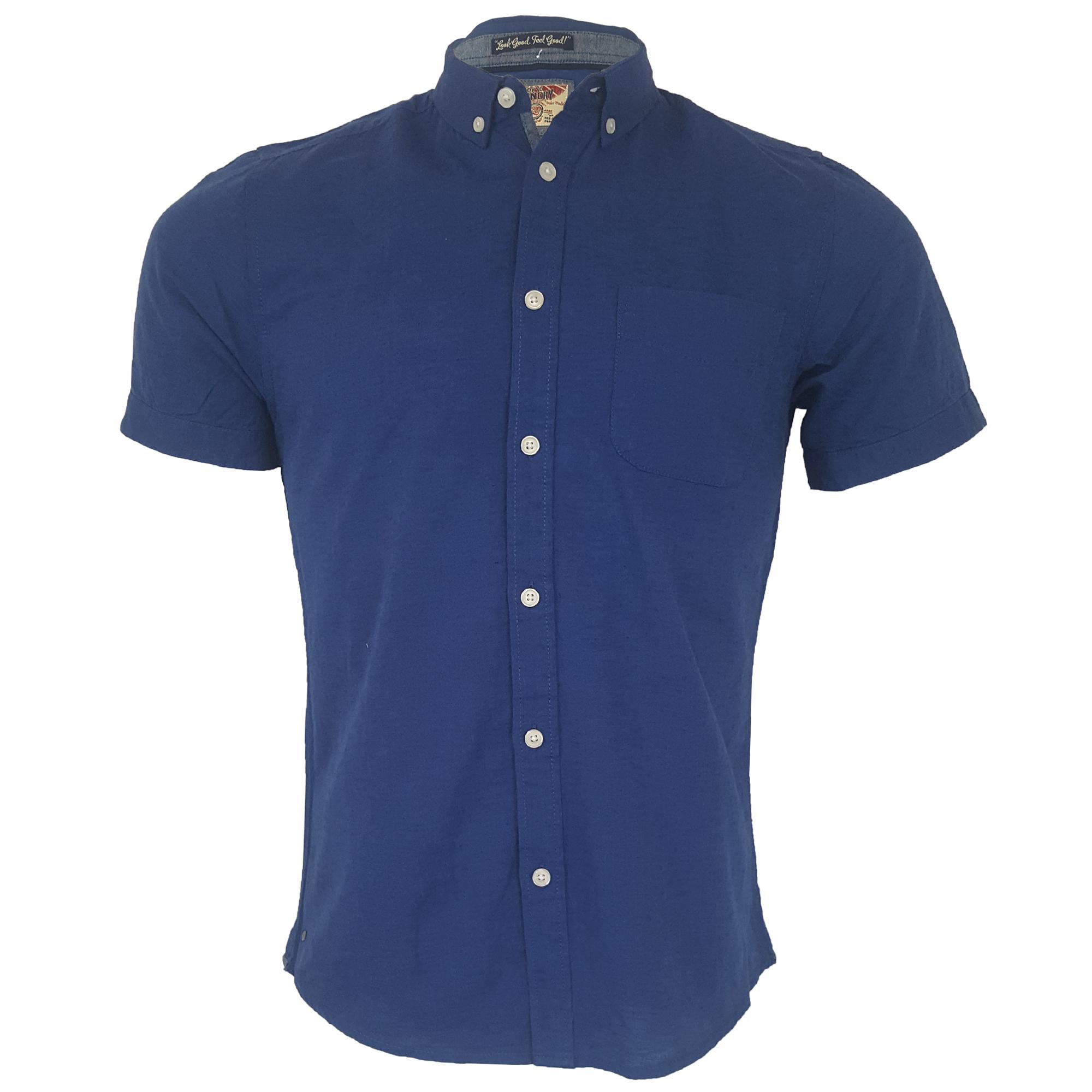 Mens-Linen-Cotton-Shirt-Tokyo-Laundry-Wells-Short-Sleeved-Grosvenor-Summer-New thumbnail 2