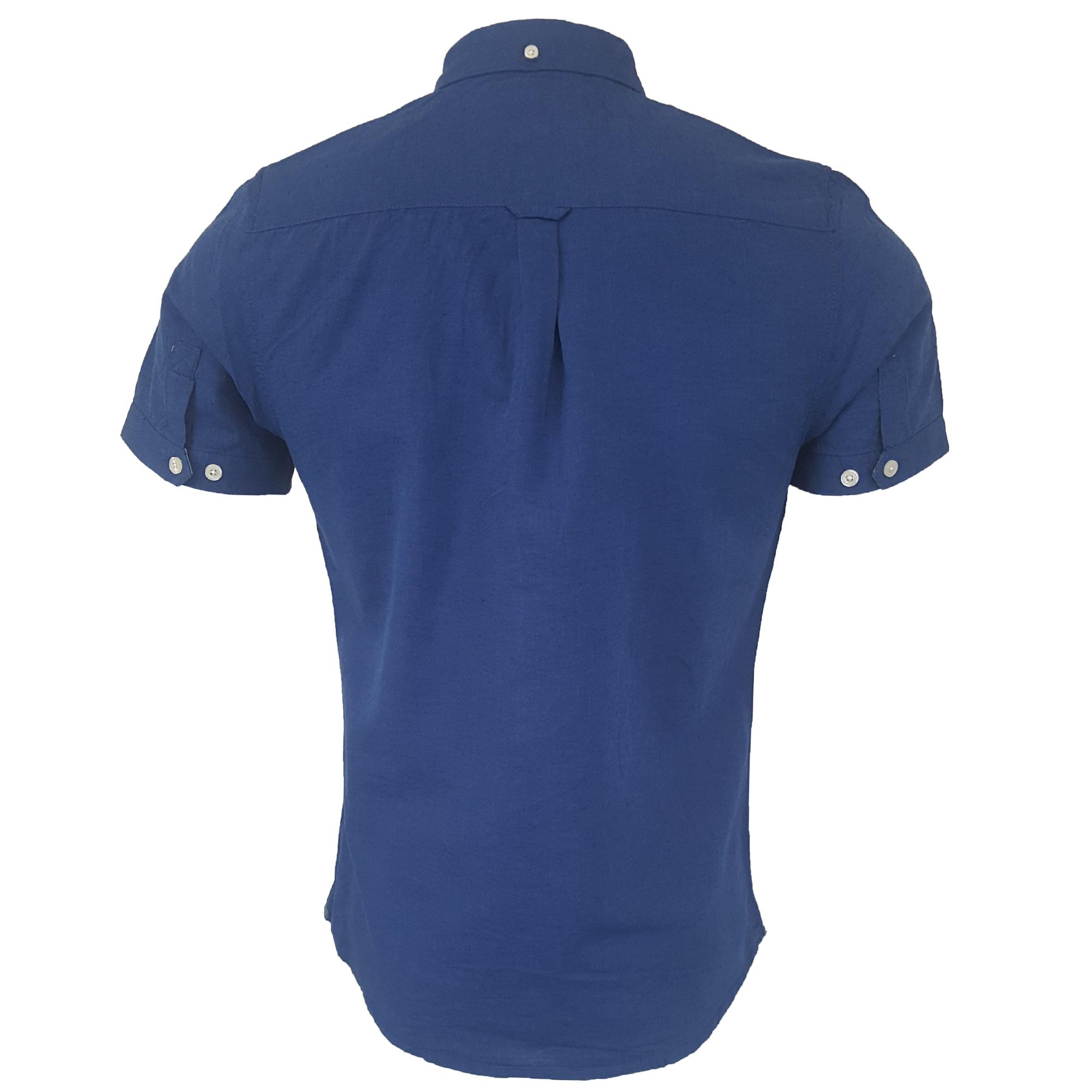 Mens-Linen-Cotton-Shirt-Tokyo-Laundry-Wells-Short-Sleeved-Grosvenor-Summer-New thumbnail 3