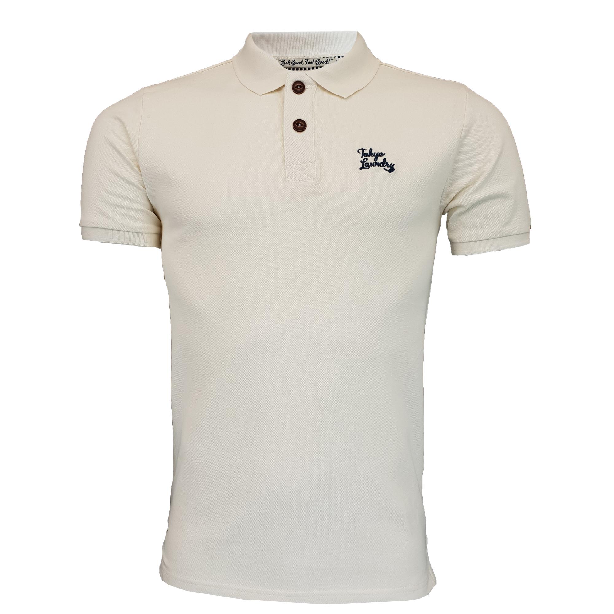 Mens-Pique-Polo-T-Shirt-Tokyo-Laundry-Florenzi-Short-Sleeved-Top-Casual-Summer thumbnail 7