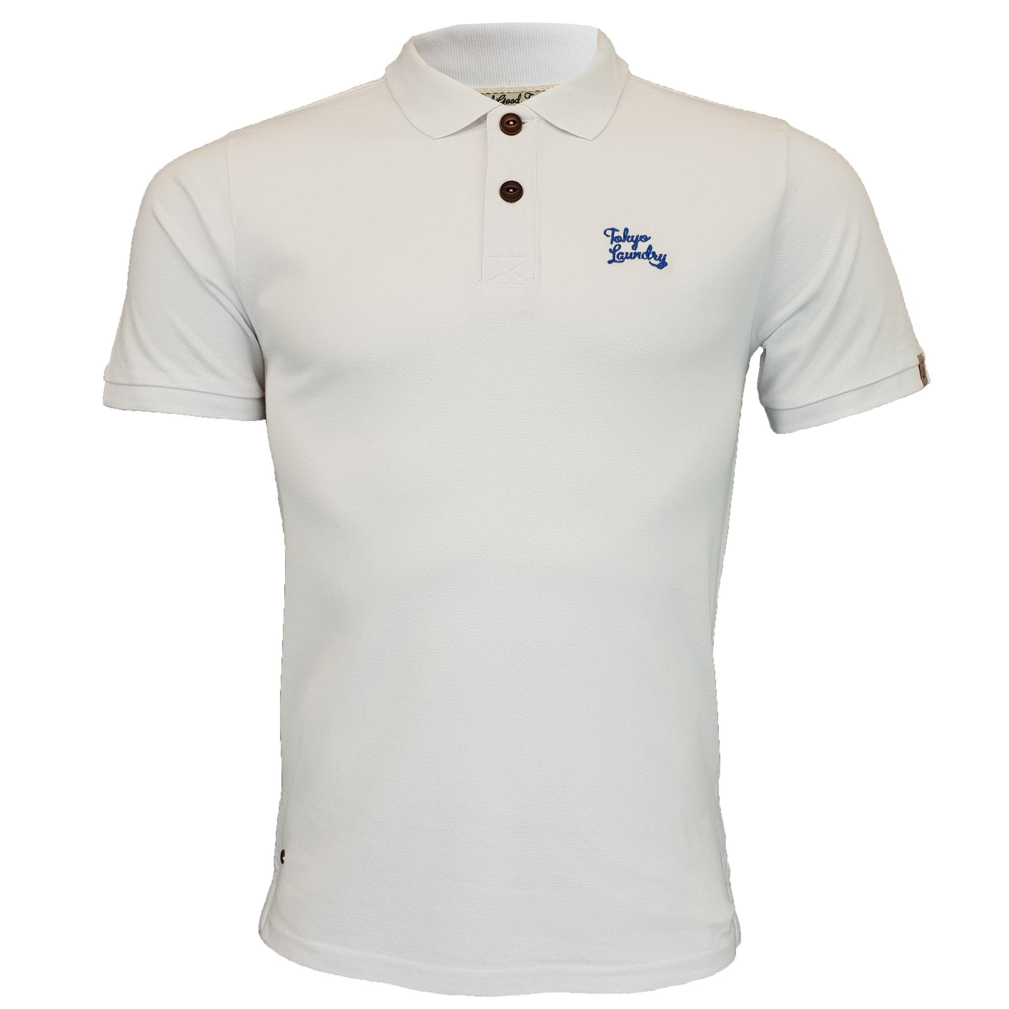 Mens-Pique-Polo-T-Shirt-Tokyo-Laundry-Florenzi-Short-Sleeved-Top-Casual-Summer thumbnail 25