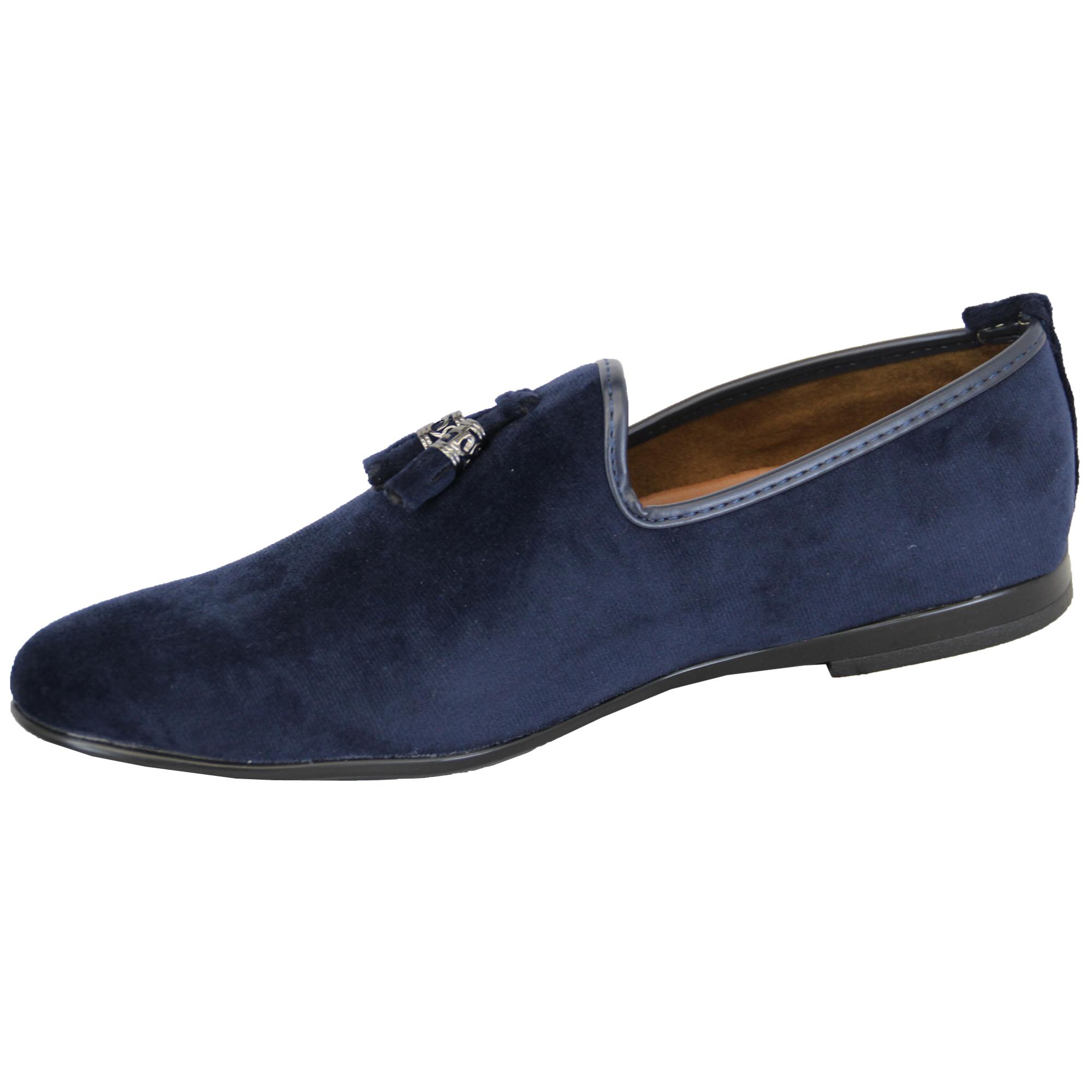 Zapatos Hombre sin Cordones Diseño Italiano Mocasines Look ante ... c074b702ce17d