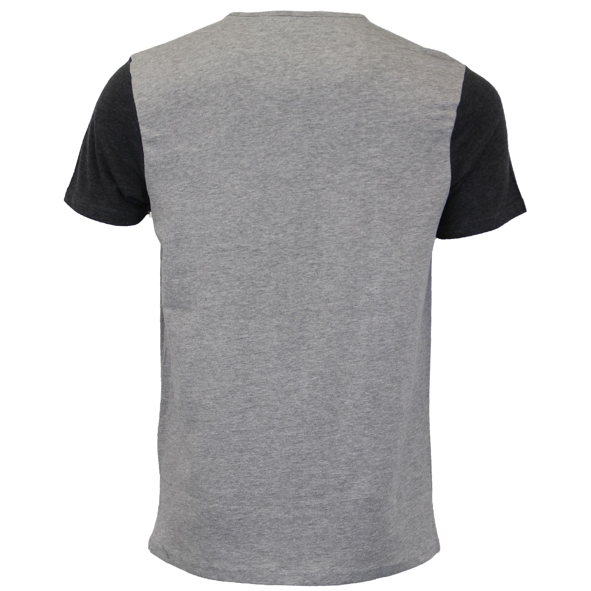 03ba8633e52 Mens T Shirt Brave Soul Short Sleeved Civil Cotton Top Grandad Neck ...