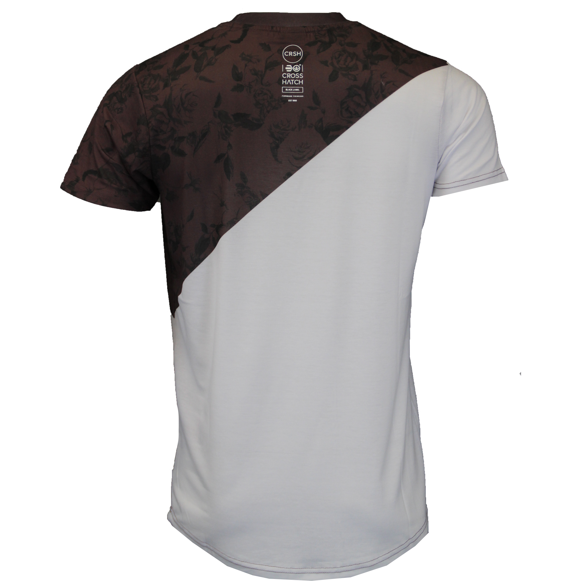 Mens-T-Shirt-Crosshatch-Short-Sleeved-Connors-Roses-Print-Top-Floraz-Summer-New thumbnail 3