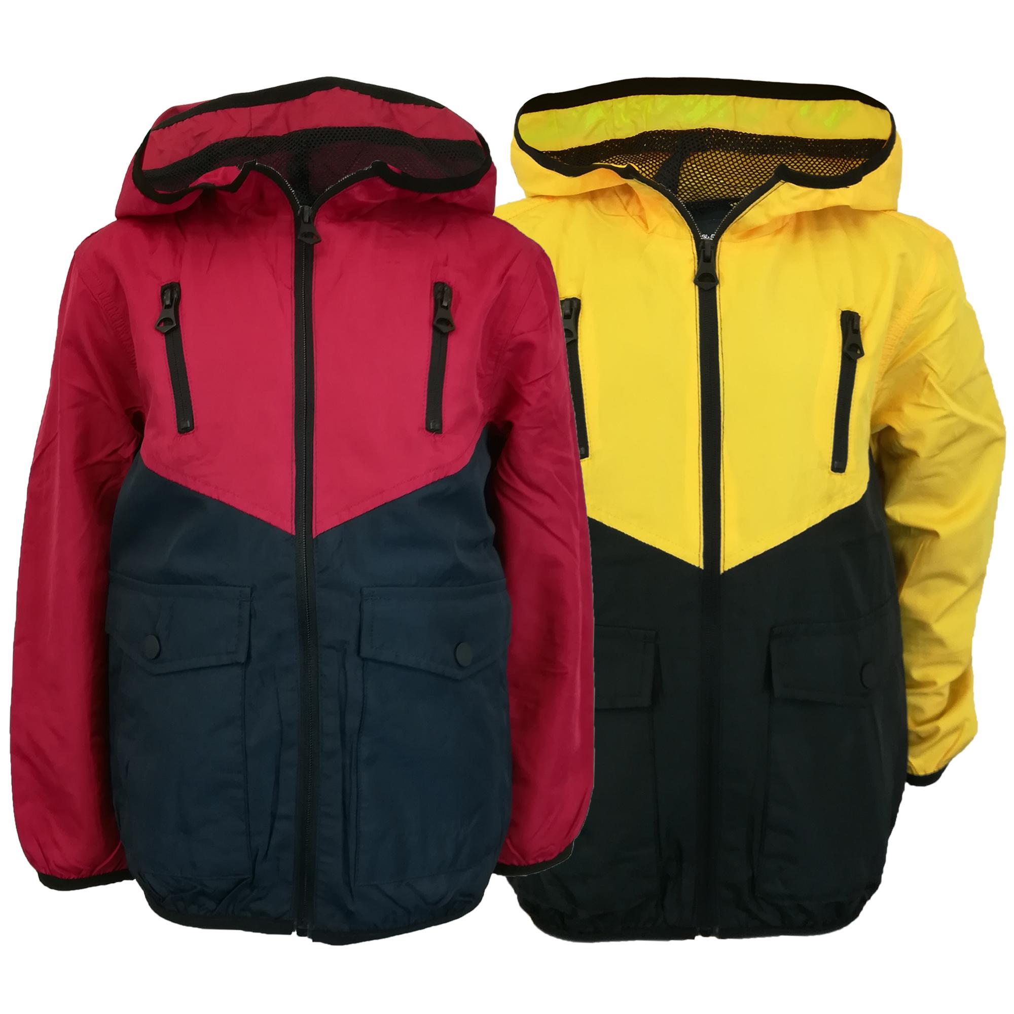 1eb84de66 Boys Windbreaker Jacket Brave Soul Kids Coat Hooded Mesh Lined Zip ...