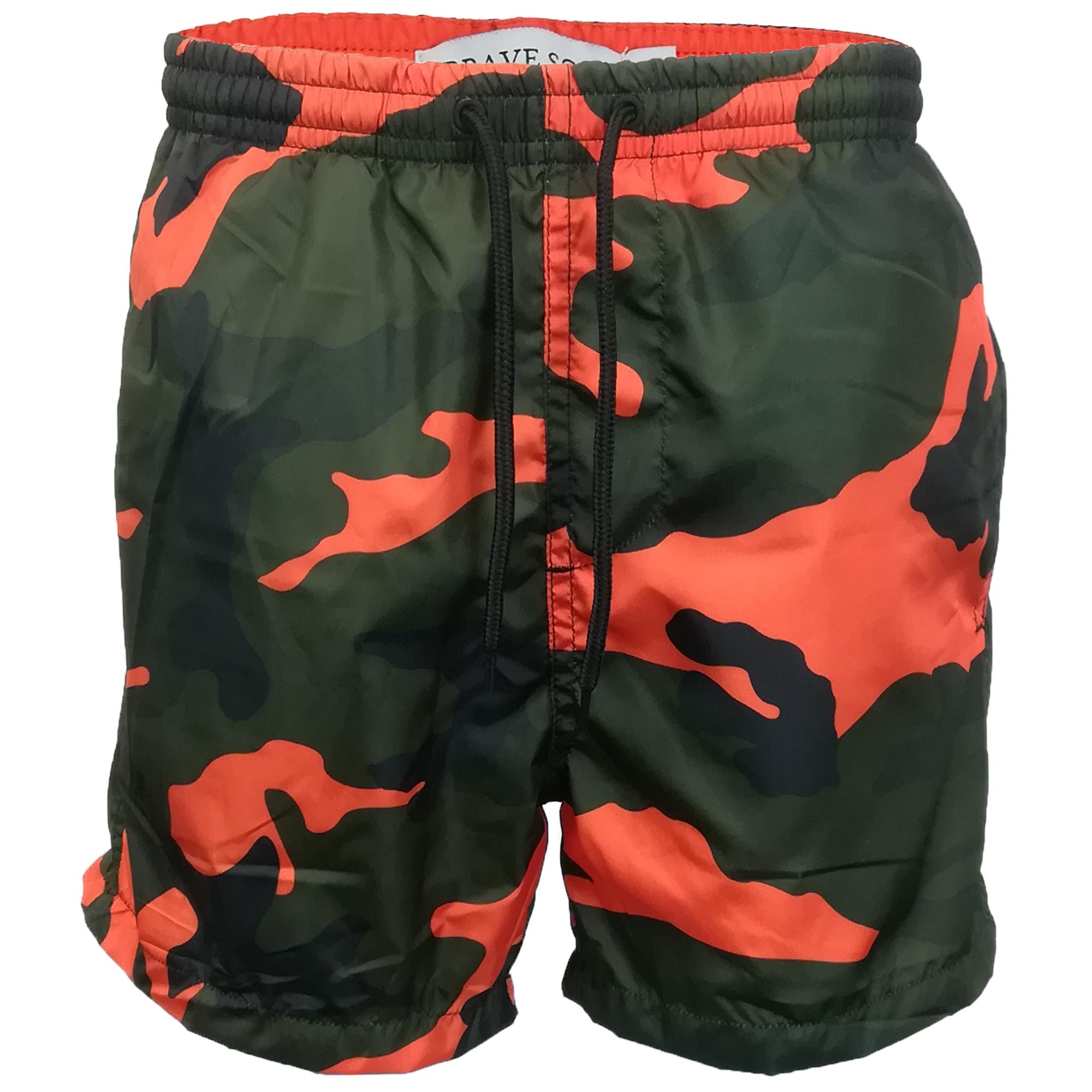 40ed9fc8f3e8f Boys Camo Swimming Shorts Brave Soul Kids Military Army Perth Mesh ...
