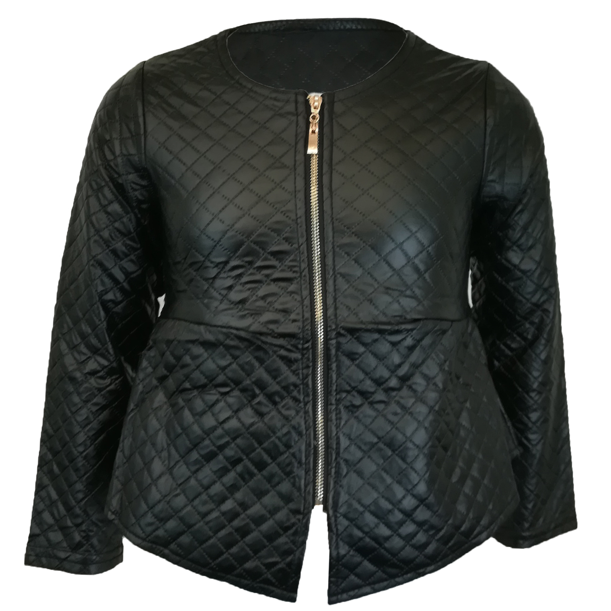 7b741c01586 Details about Girls Biker Jacket Kids Diamond Quilted Baseball Style PVC  Leather Look Summer