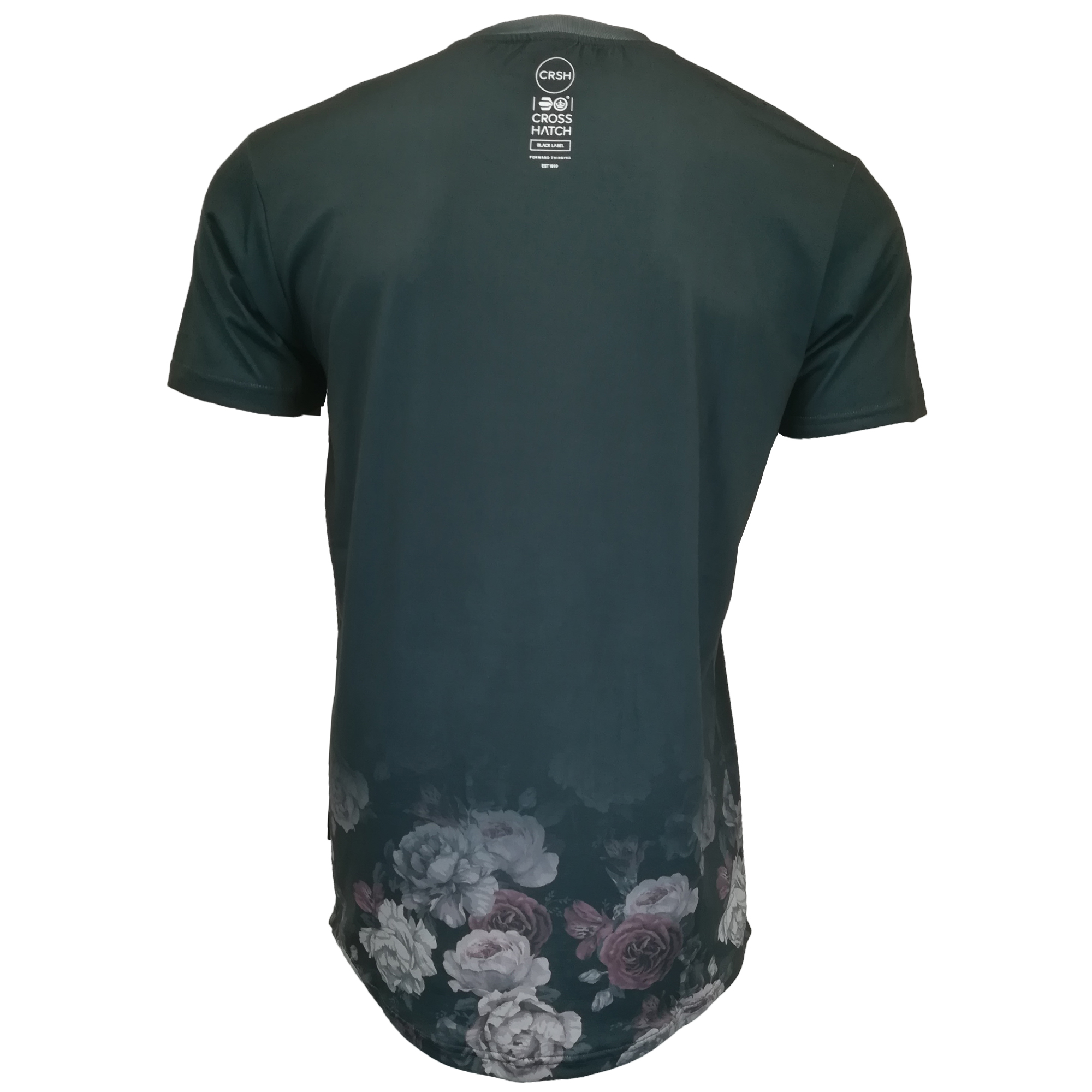 Mens-T-Shirt-Crosshatch-Short-Sleeved-Connors-Roses-Print-Top-Floraz-Summer-New thumbnail 6