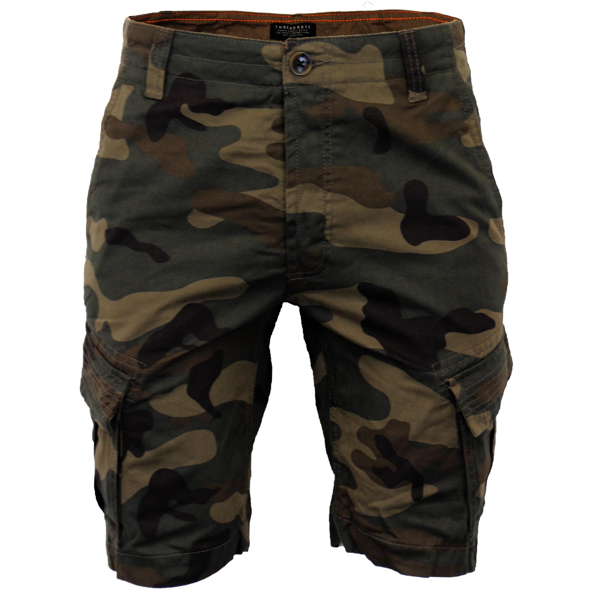 Mens-Cargo-Chino-Shorts-Threadbare-Combat-Knee-Length-Westace-Military-Summer thumbnail 10