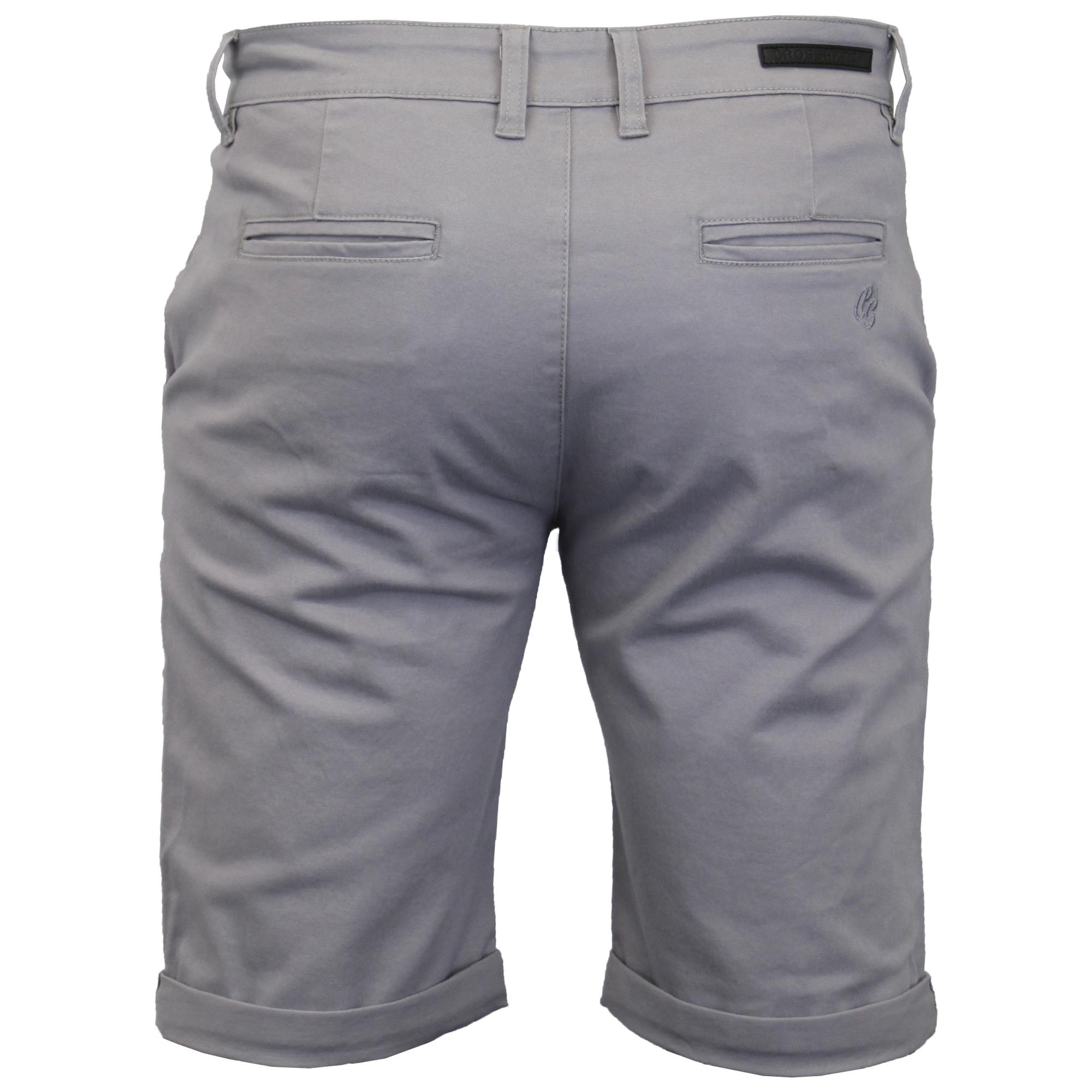thumbnail 3 - Mens-Chino-Shorts-Crosshatch-Brandons-Knee-Length-Fastrack-Roll-Up-Summer-New