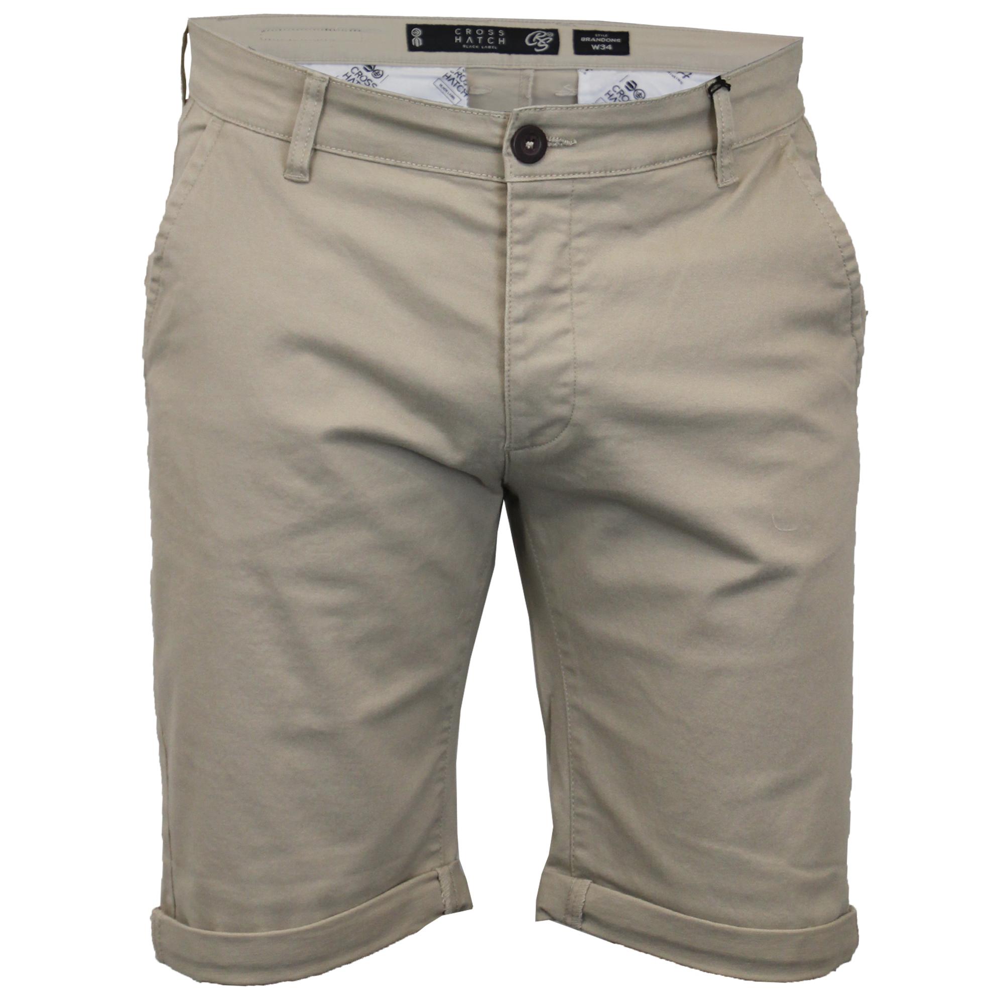 thumbnail 11 - Mens-Chino-Shorts-Crosshatch-Brandons-Knee-Length-Fastrack-Roll-Up-Summer-New