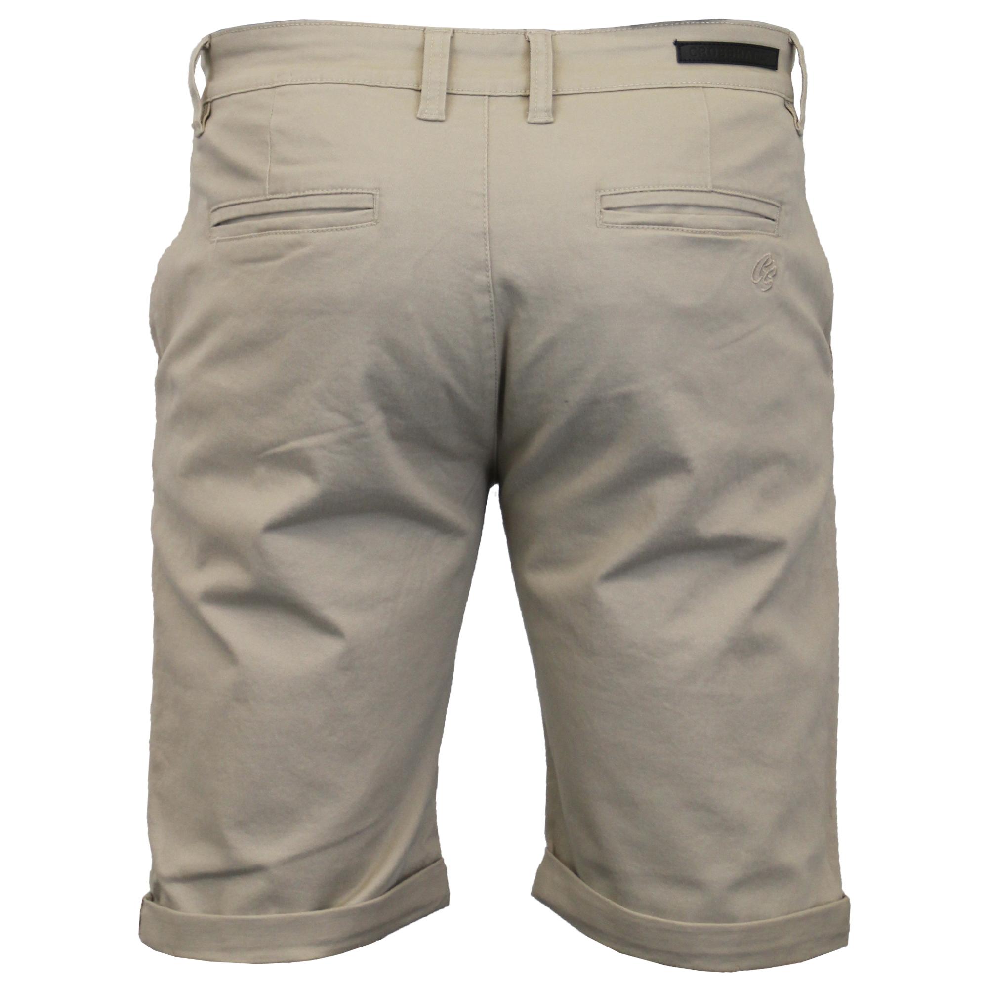 thumbnail 12 - Mens-Chino-Shorts-Crosshatch-Brandons-Knee-Length-Fastrack-Roll-Up-Summer-New
