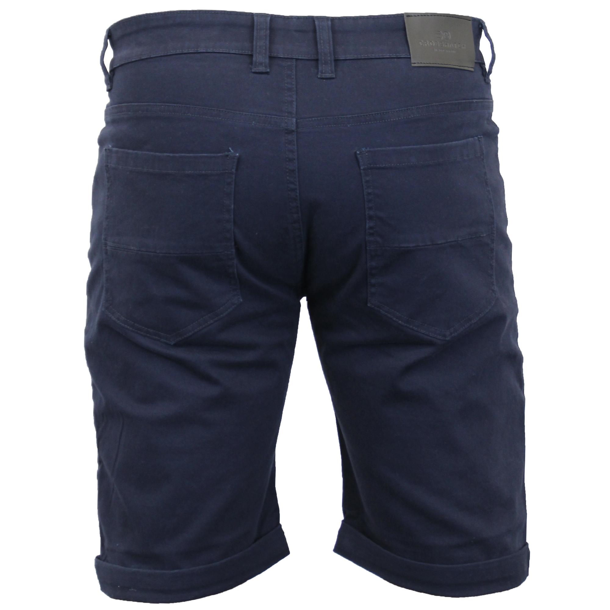 thumbnail 9 - Mens-Chino-Shorts-Crosshatch-Brandons-Knee-Length-Fastrack-Roll-Up-Summer-New