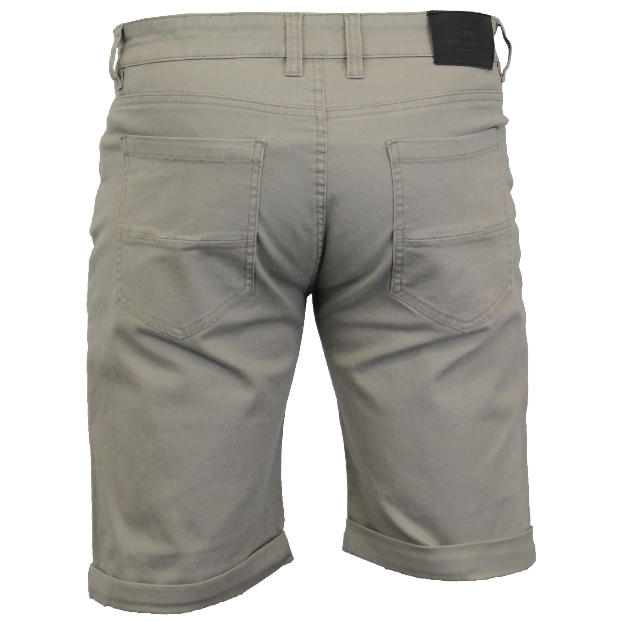 thumbnail 15 - Mens-Chino-Shorts-Crosshatch-Brandons-Knee-Length-Fastrack-Roll-Up-Summer-New