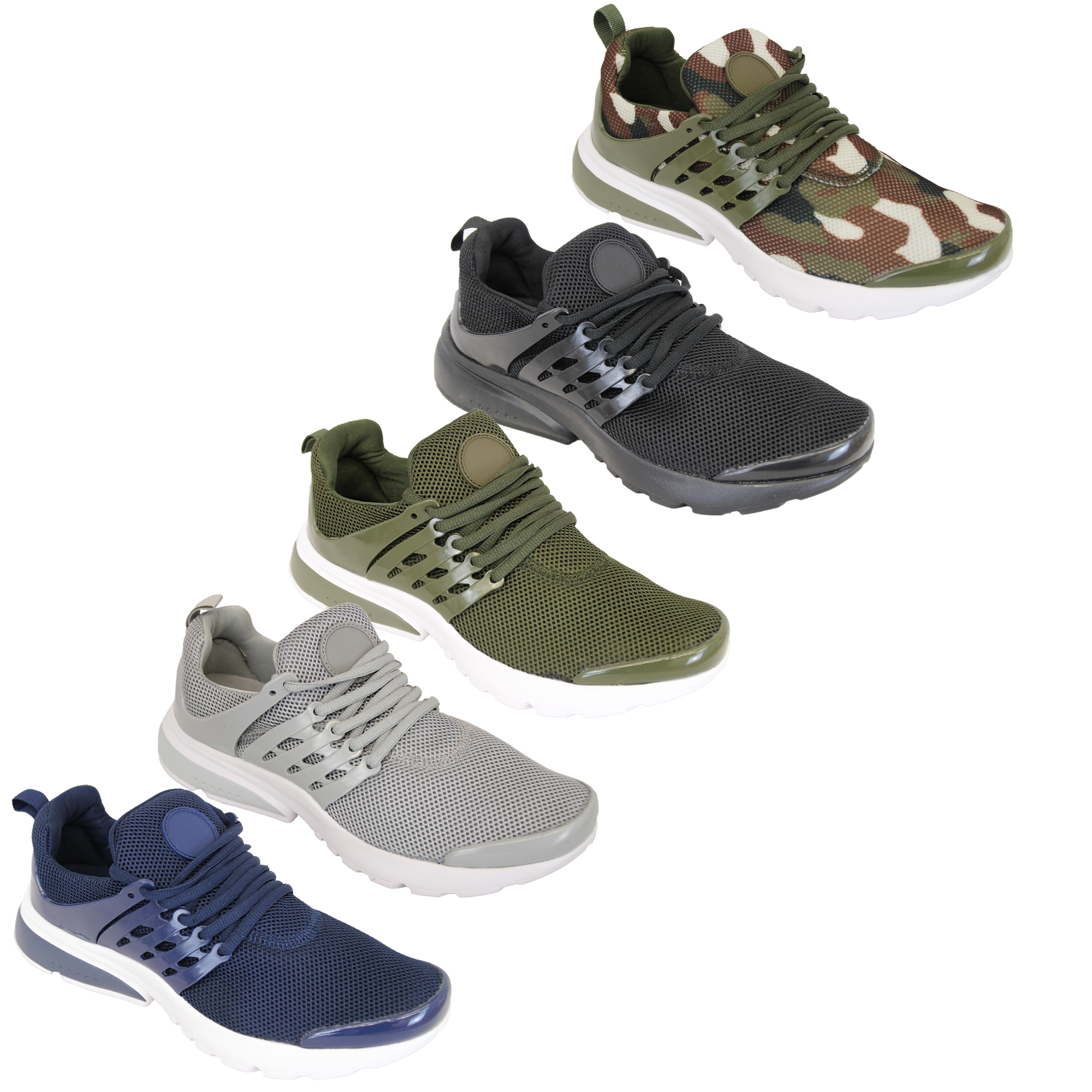 9745cbccc14d Mens Trainers Lace Up Camo Active Running Jogging Army Gym Mesh ...