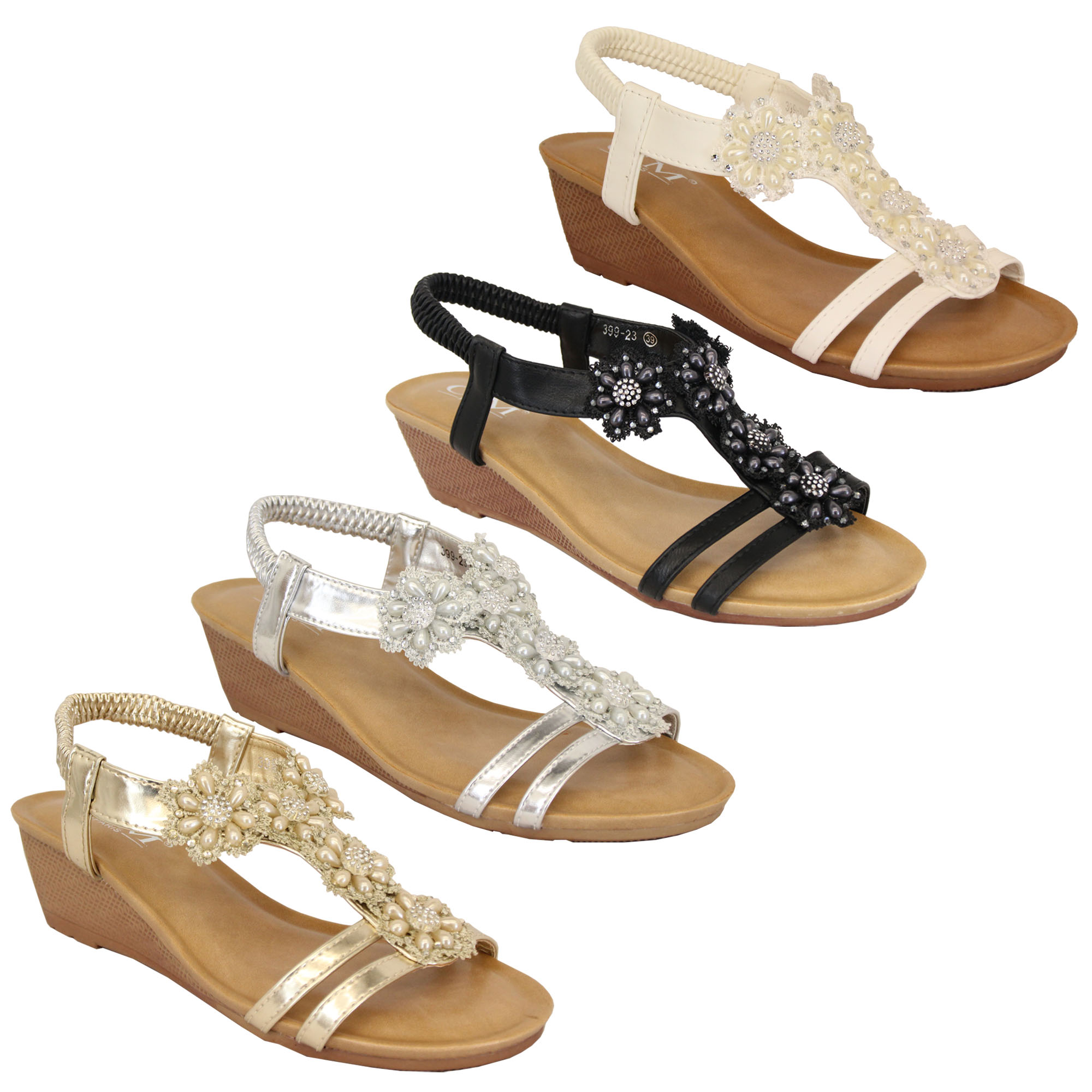 Ladies wedge heel shoes uk