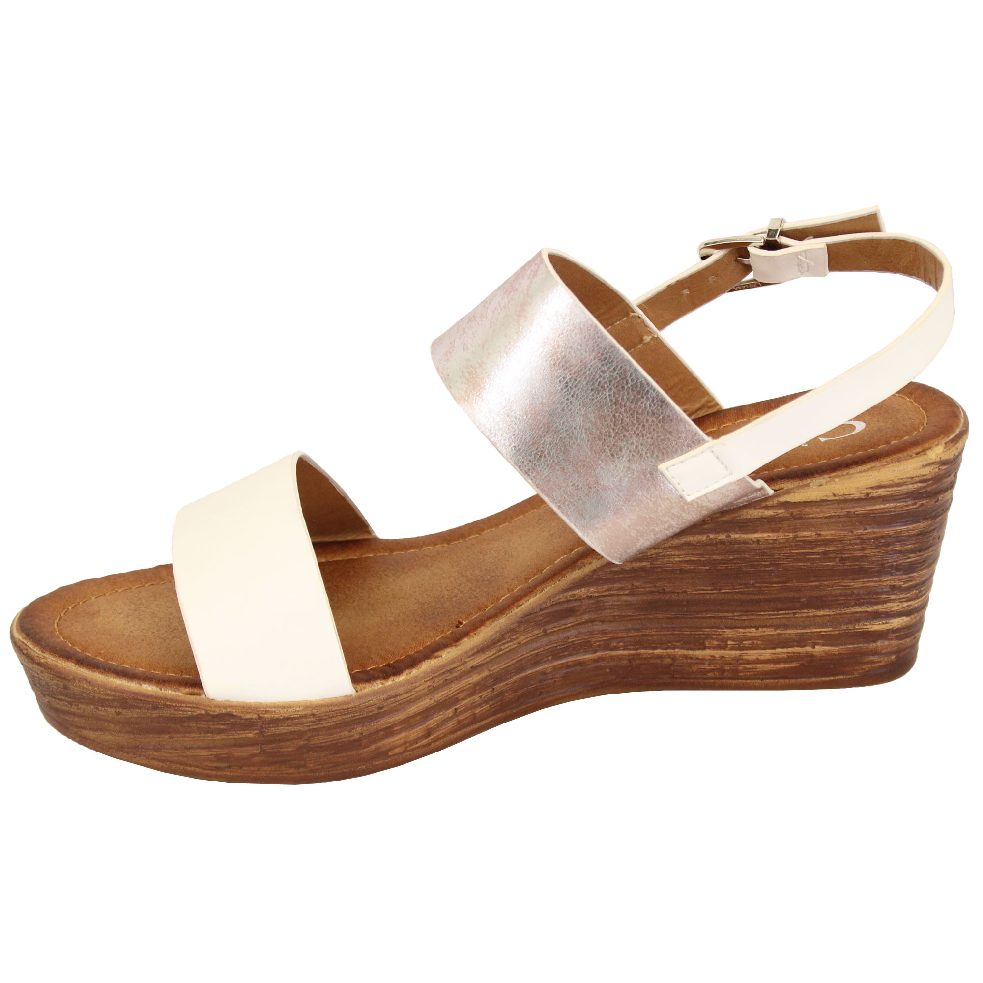 Ladies-Wedge-Sandals-Womens-Strappy-Open-Toe-Shoes-Party-Fashion-Buckle-Summer thumbnail 7
