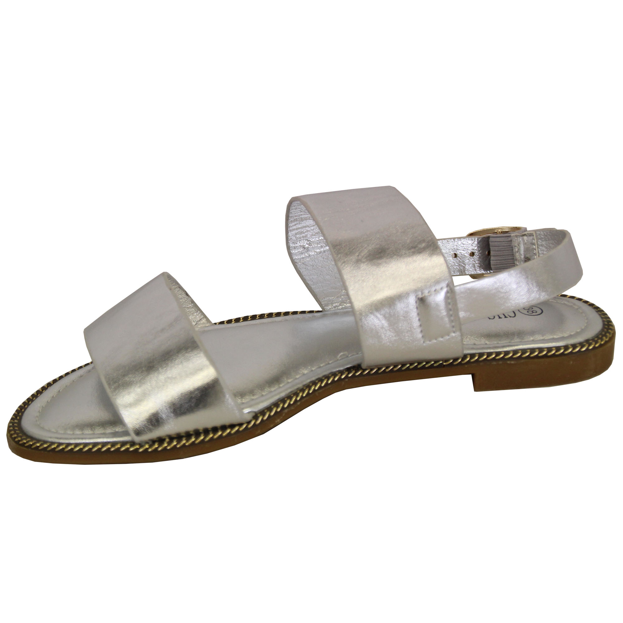 Ladies-Flat-Sandals-Slip-On-Womens-Open-Toe-Shoes-Buckle-Fashion-Wedding-Summer thumbnail 13