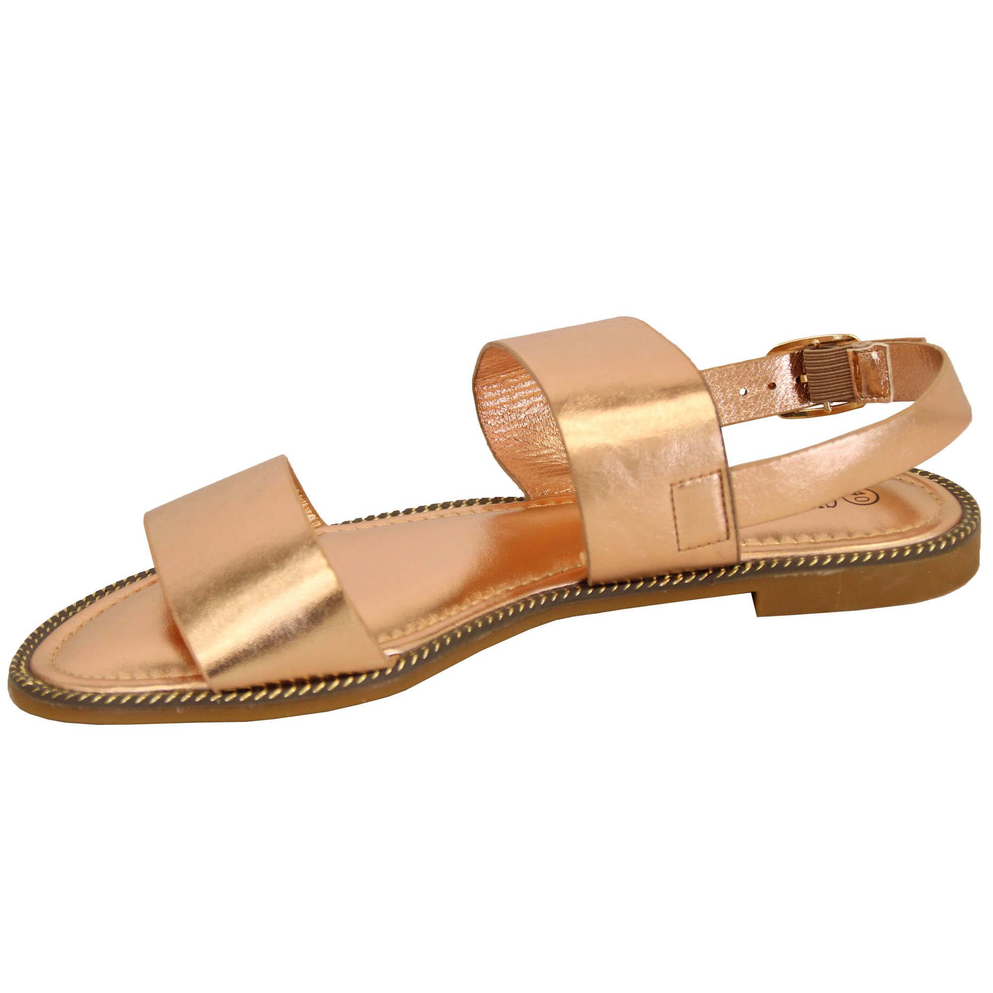 Ladies-Flat-Sandals-Slip-On-Womens-Open-Toe-Shoes-Buckle-Fashion-Wedding-Summer thumbnail 7