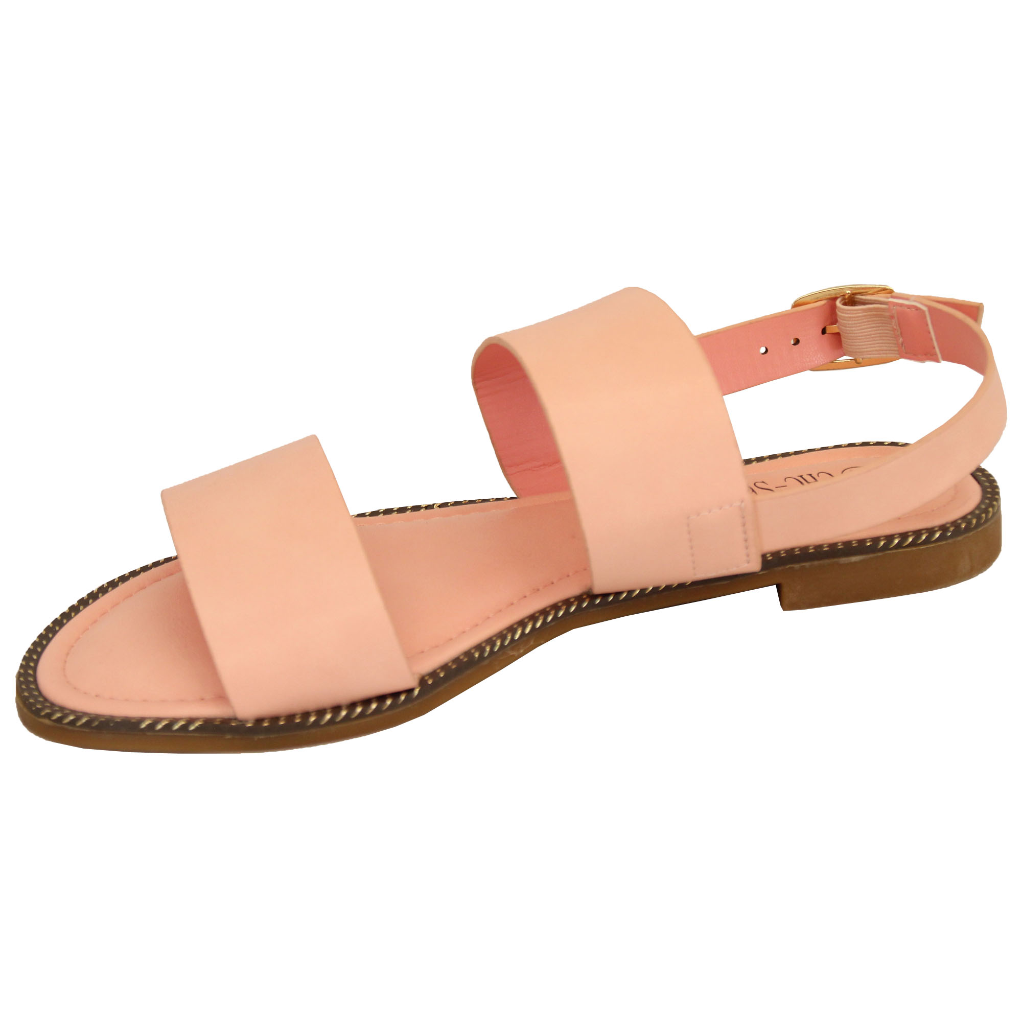 Ladies-Flat-Sandals-Slip-On-Womens-Open-Toe-Shoes-Buckle-Fashion-Wedding-Summer thumbnail 10