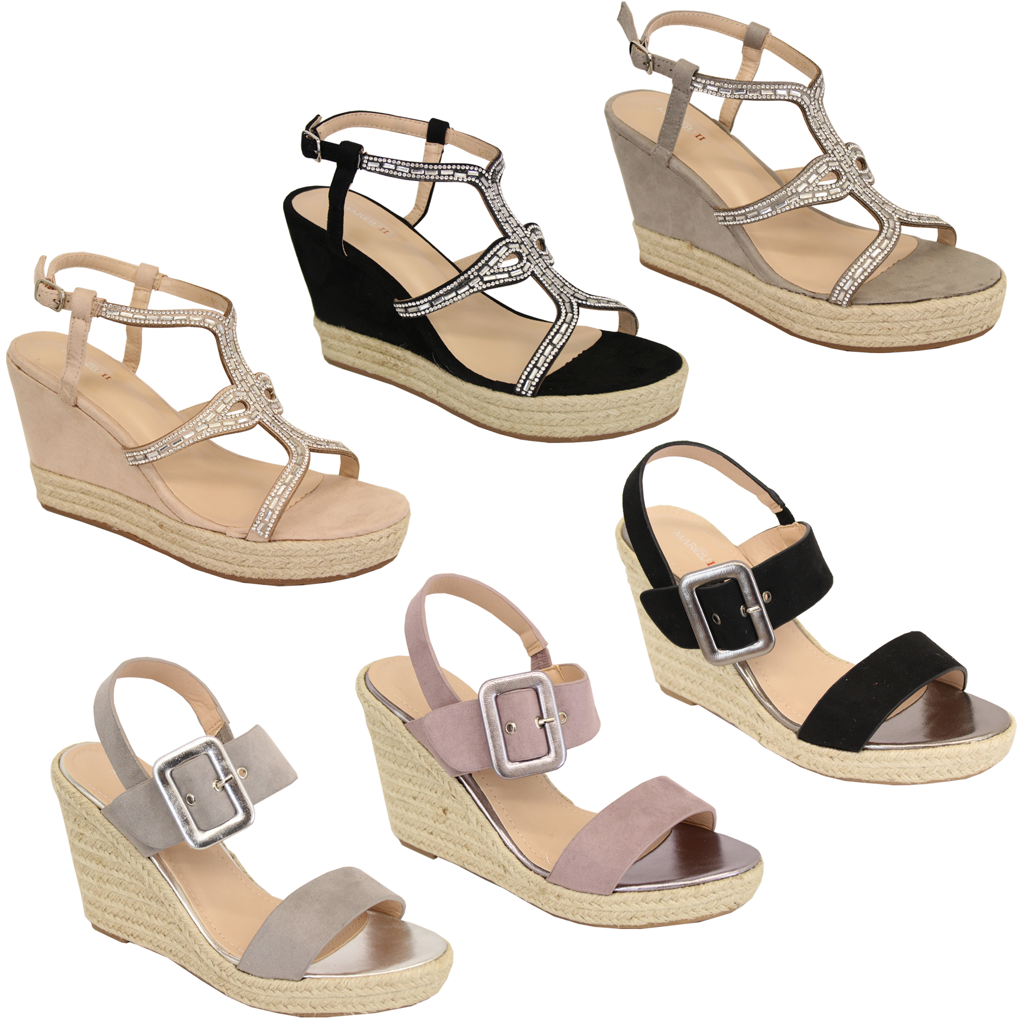 Scarpe da donna sandali beige con zeppe alte e plateau 39 40 cinturino spuntate