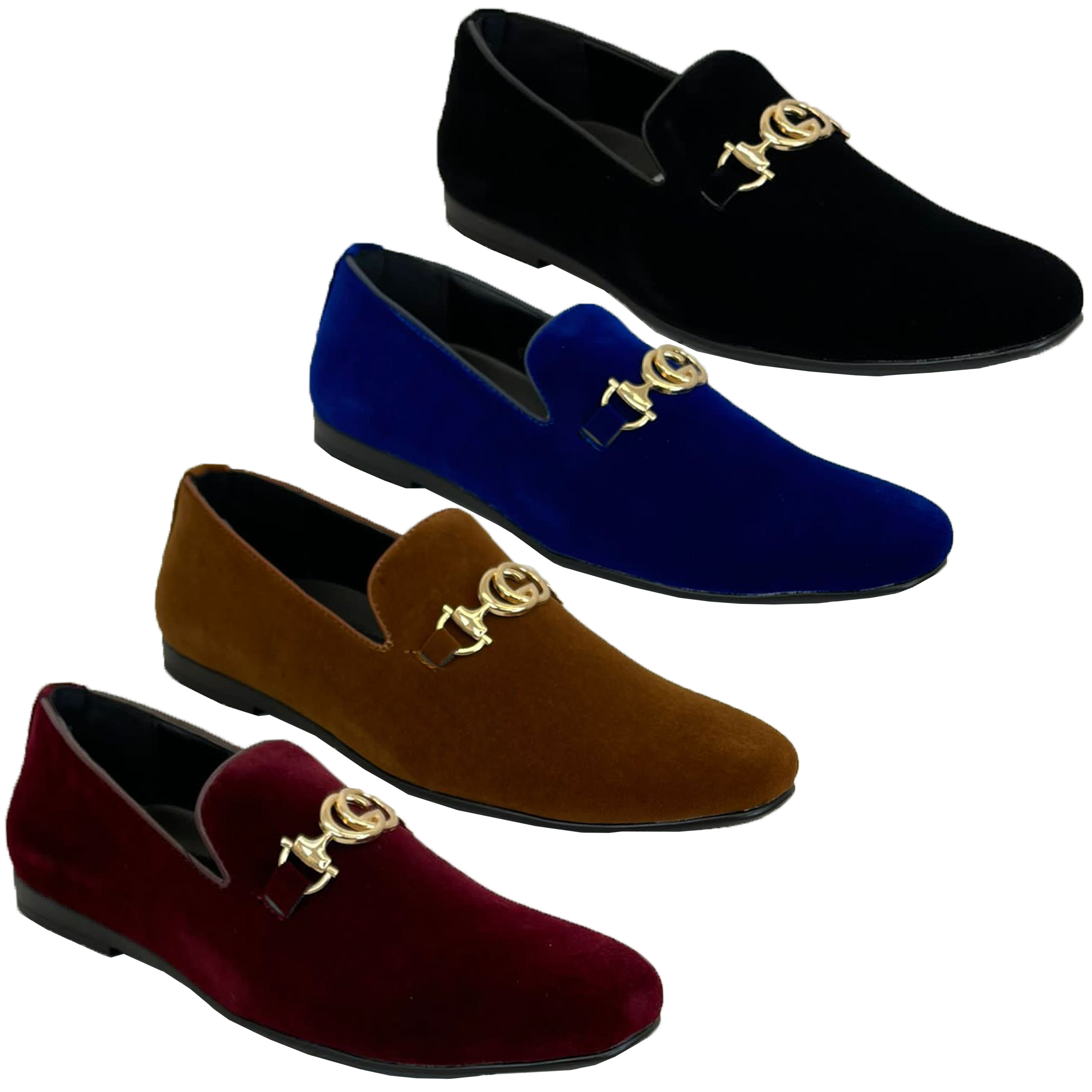 c10ea8ffe34 Mens Slip On Italian Shoes Designer Loafers Suede Look Moccasin ...