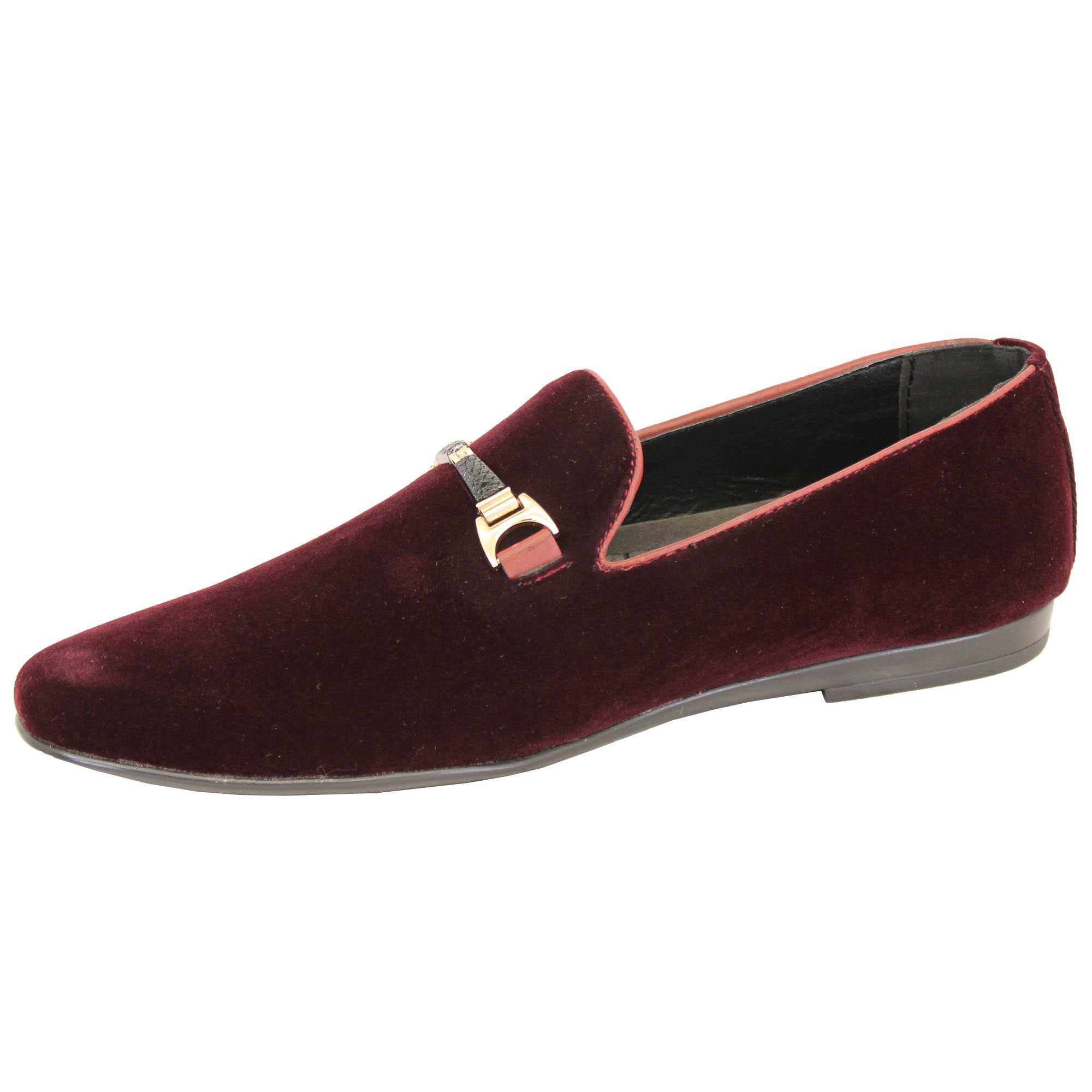 Mens-Slip-On-Italian-Shoes-Designer-Loafers-Suede-Look-Moccasin-Style-Fashion thumbnail 15