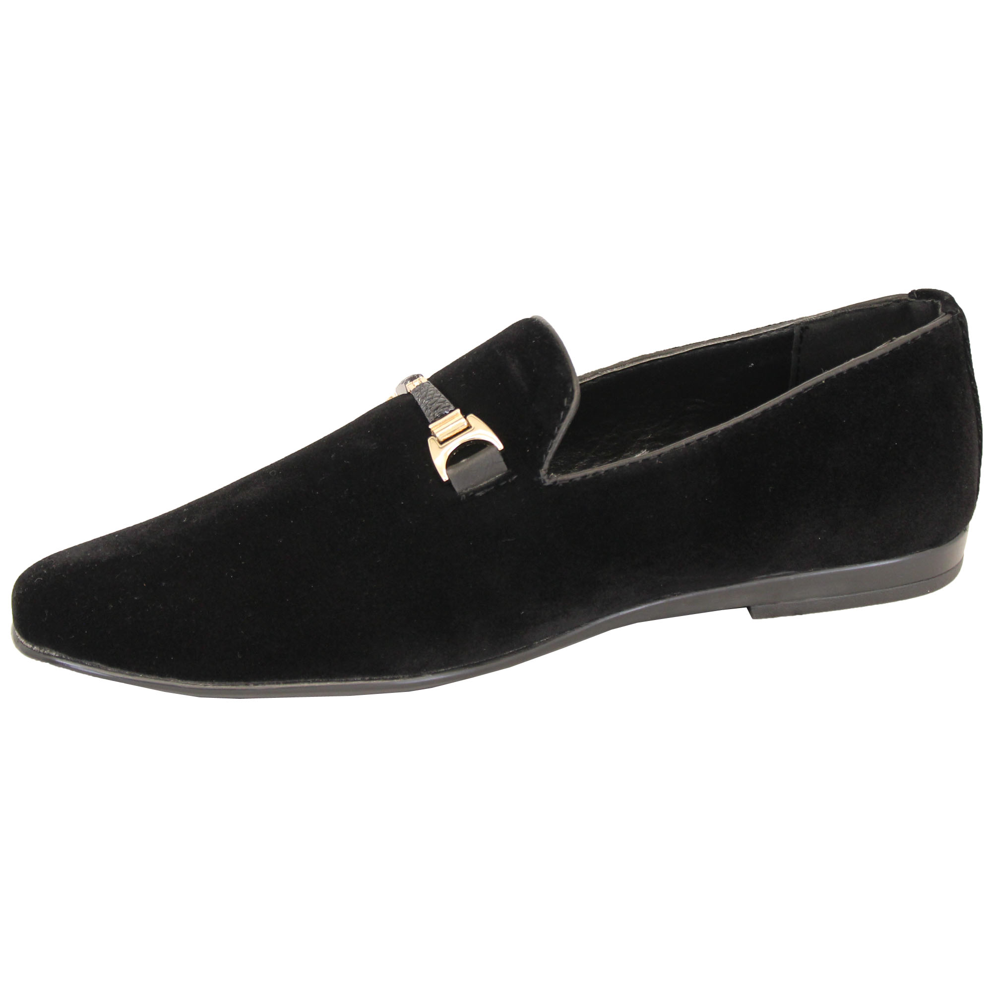 Mens-Slip-On-Italian-Shoes-Designer-Loafers-Suede-Look-Moccasin-Style-Fashion thumbnail 3