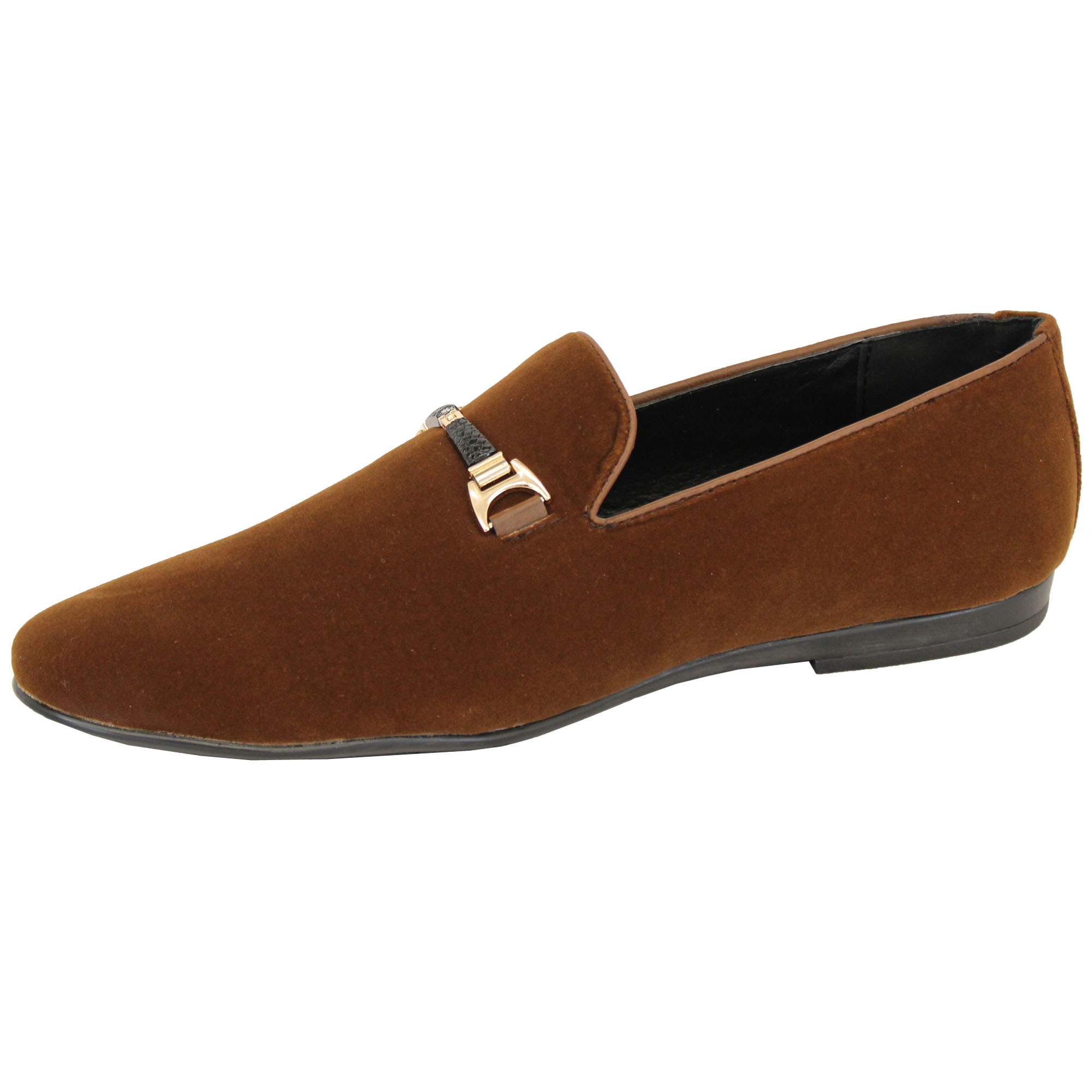 Mens-Slip-On-Italian-Shoes-Designer-Loafers-Suede-Look-Moccasin-Style-Fashion thumbnail 11