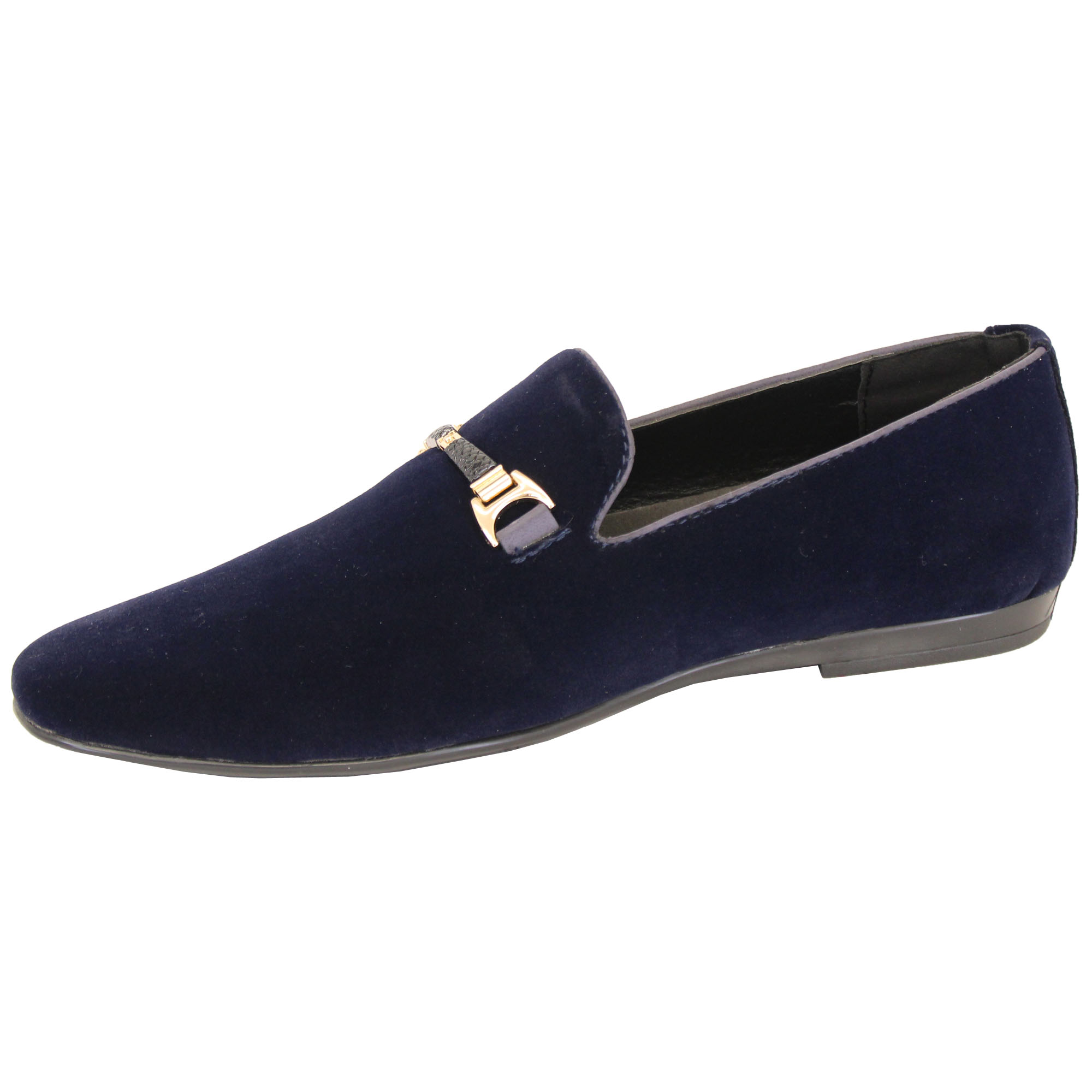 Mens-Slip-On-Italian-Shoes-Designer-Loafers-Suede-Look-Moccasin-Style-Fashion thumbnail 7