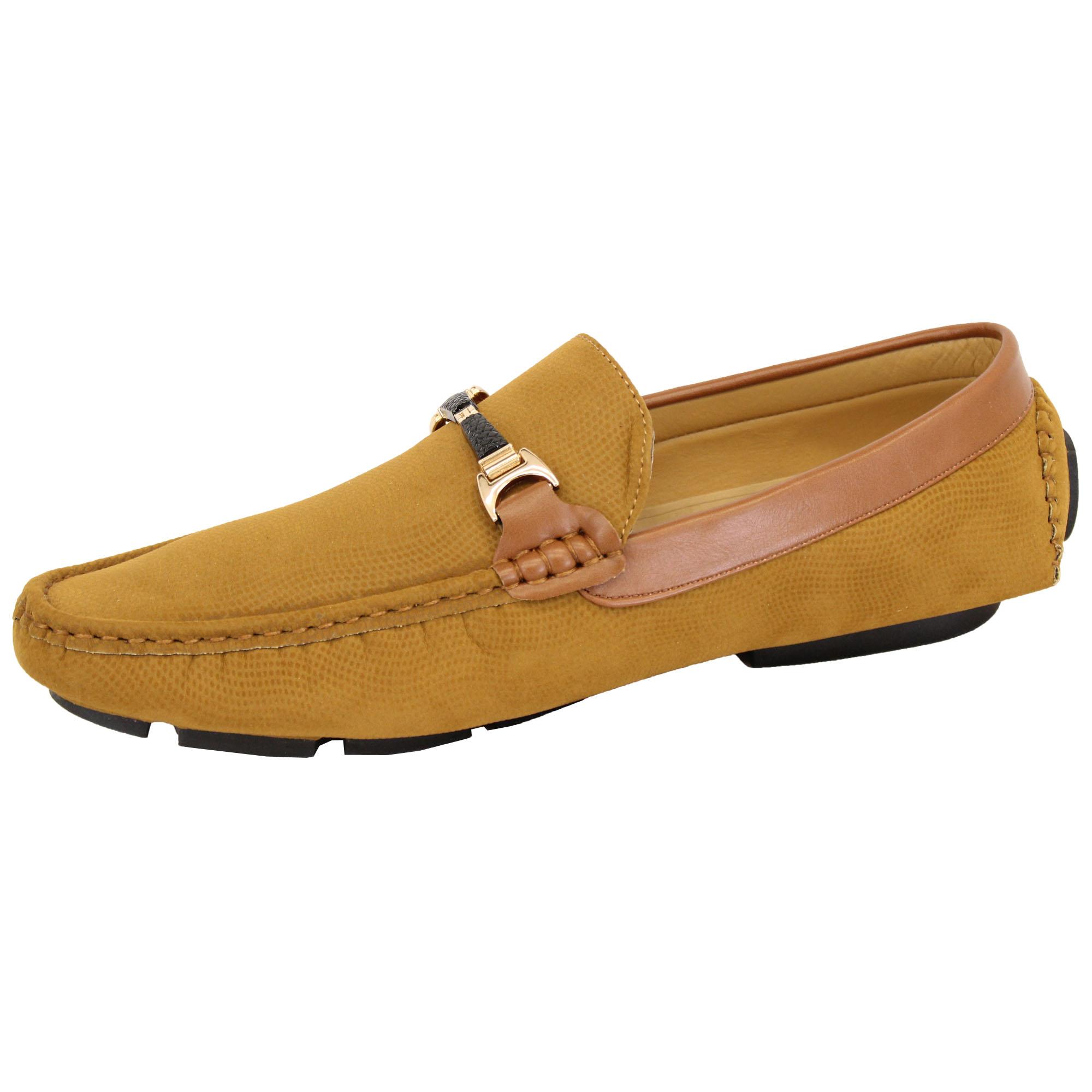 Zapatos Para Hombre Aspecto De Gamuza Mocasines Conducción Mocasines Sin Cordones Barco Cinta Italiano Nuevo