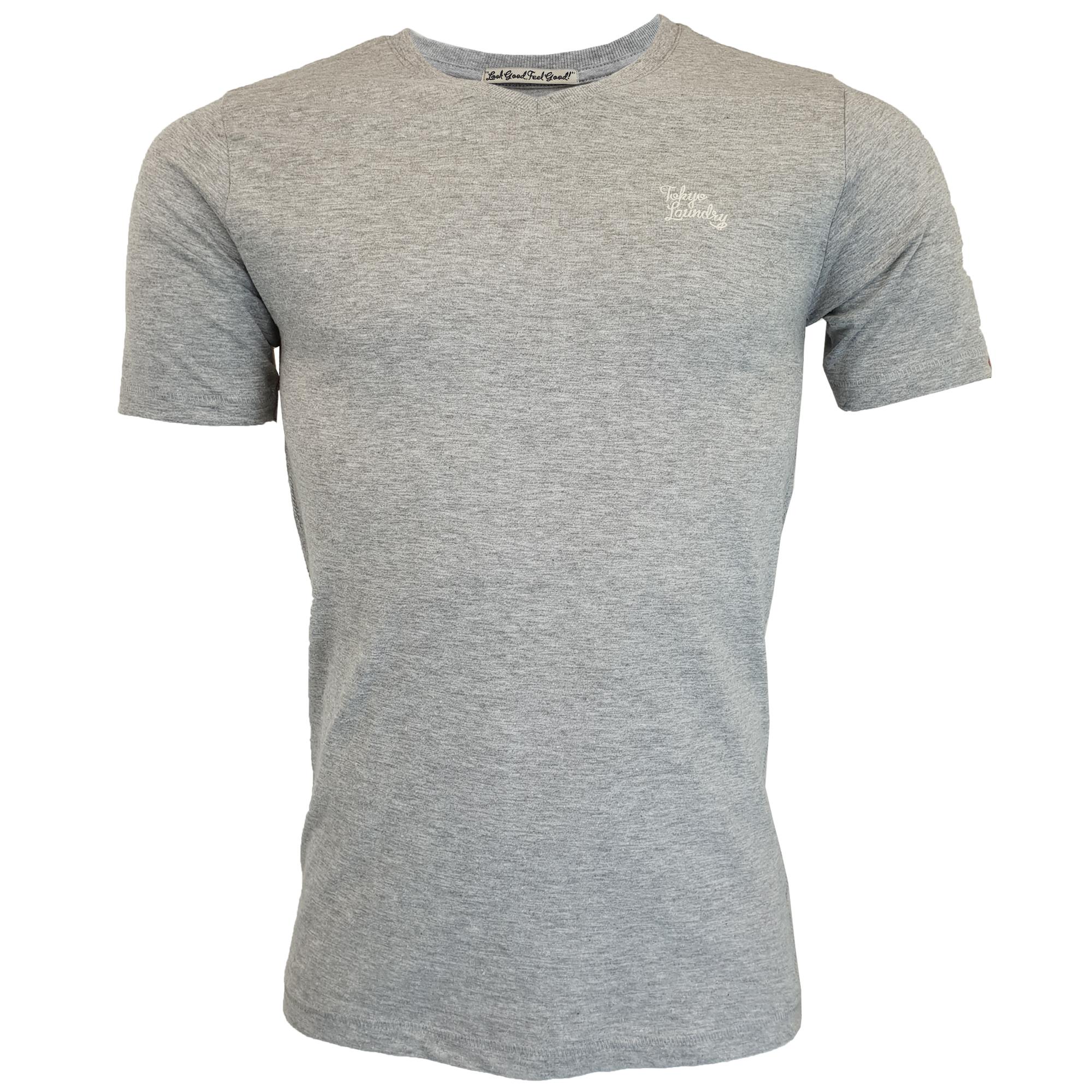 New-Mens-Tokyo-Laundry-3-Pack-Plain-Combed-Cotton-T-shirt-Top-Plain-Mix-Colours thumbnail 4